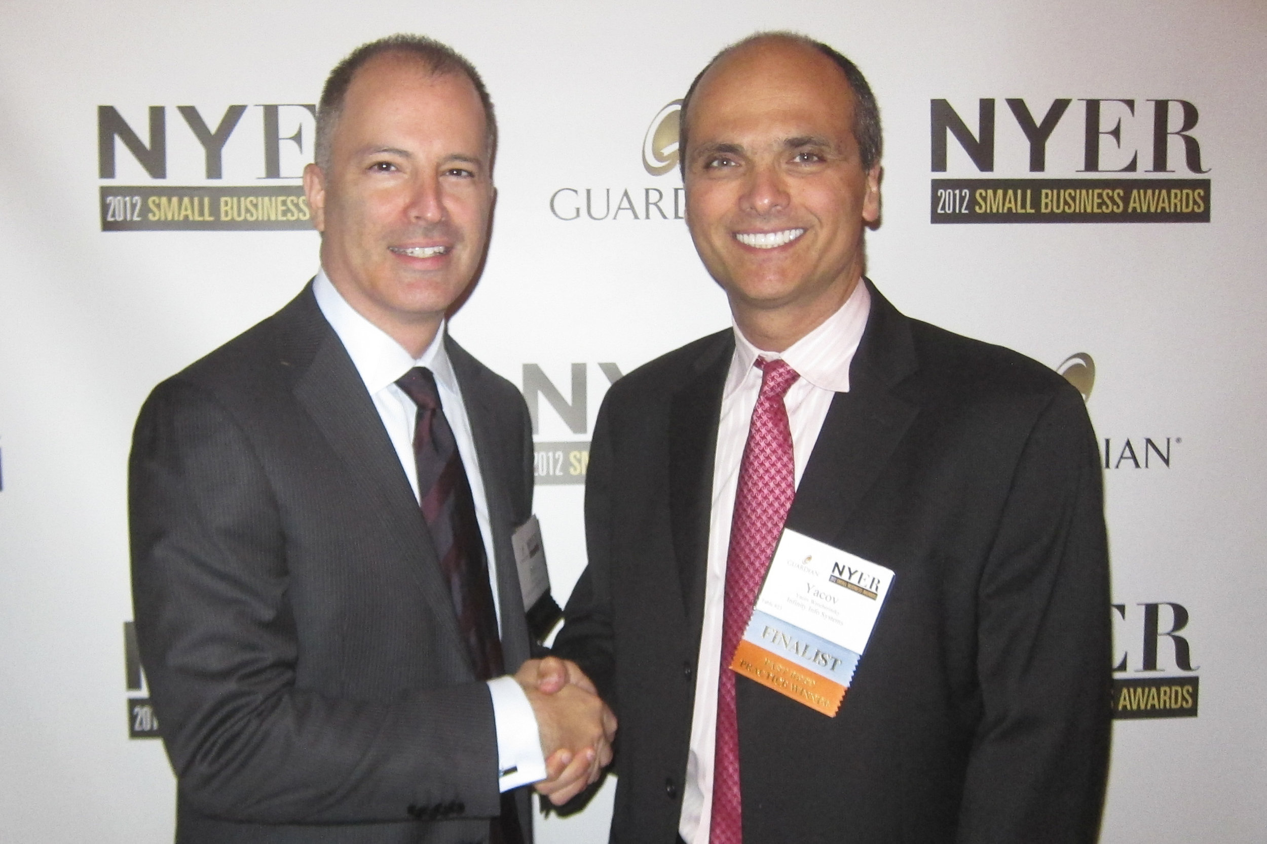 ACCEPTING A NEW YORK SMALL BUSINESS AWARD
