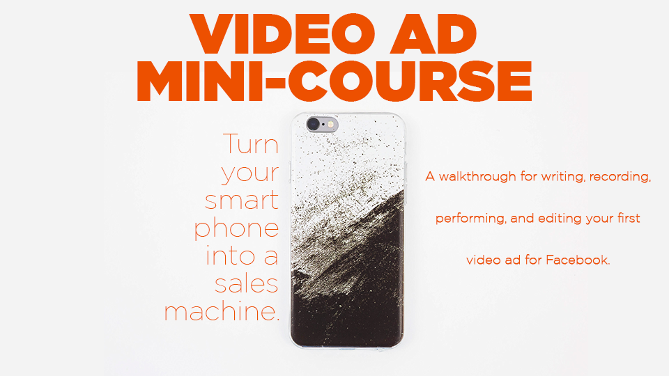 A guide for making video ads with your smartphone. - A walkthrough in writing, shooting, and editing a video ad!• Setting up gear • Camera settings you should use • Finding good lighting • Performance tips • Much More