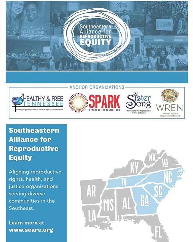 🚨 Collective Impact in Action 🚨  Introducing the Southeastern Alliance for Reproductive Equity!  Special Collective Voices Webinar  Tuesday, February 26th 11PM - 12:30PM CST  bit.ly/SEAREwebinar  SisterSong, in partnership withHealthy & Free Tennessee (HFTN),SPARK Reproductive Justice NOW (SPARK), and theWomen's Rights and Empowerment Network (WREN), is excited to announce the creation of theSoutheastern Alliance for Reproductive Equity (SEARE). SEARE is a regional partnership working to align Reproductive Rights, Health, and Justice organizations serving diverse communities in the Southeast.  During this webinar you will have an opportunity to (1) hear from each anchor organization and learn more about their work and their role in the Alliance; and (2) gain a deeper understanding about the mission, core values, short and long term goals of this alliance.