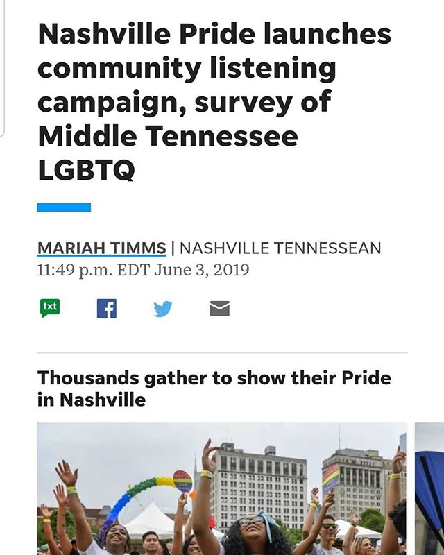 Proud to be in community with amazing organizations and people doing the right work at the right time. It's been an honor to lend my time & talents to help bring forth this vision.  Thank you @nashville_pride for trusting me to facilitate such a powerful & meaningful process.  #AlignmentMadeManifest