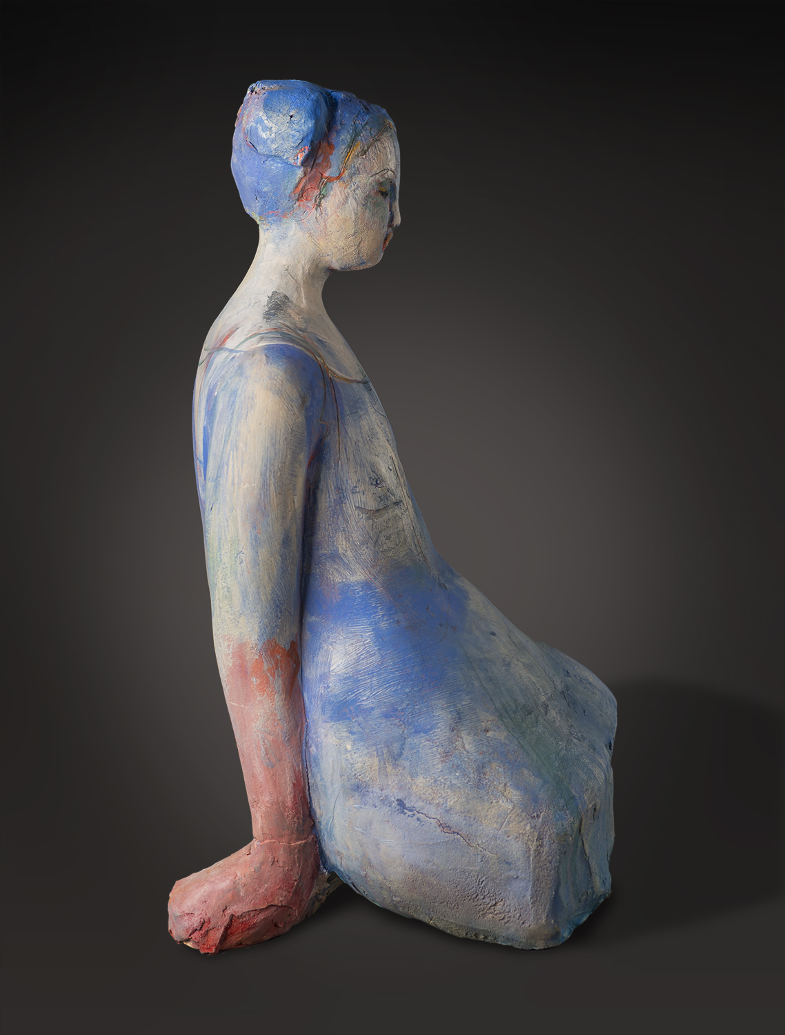 Blue Figure (detail, side view)
