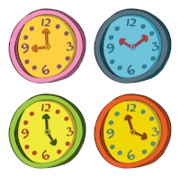 Set of clocks in different colors 2.jpg