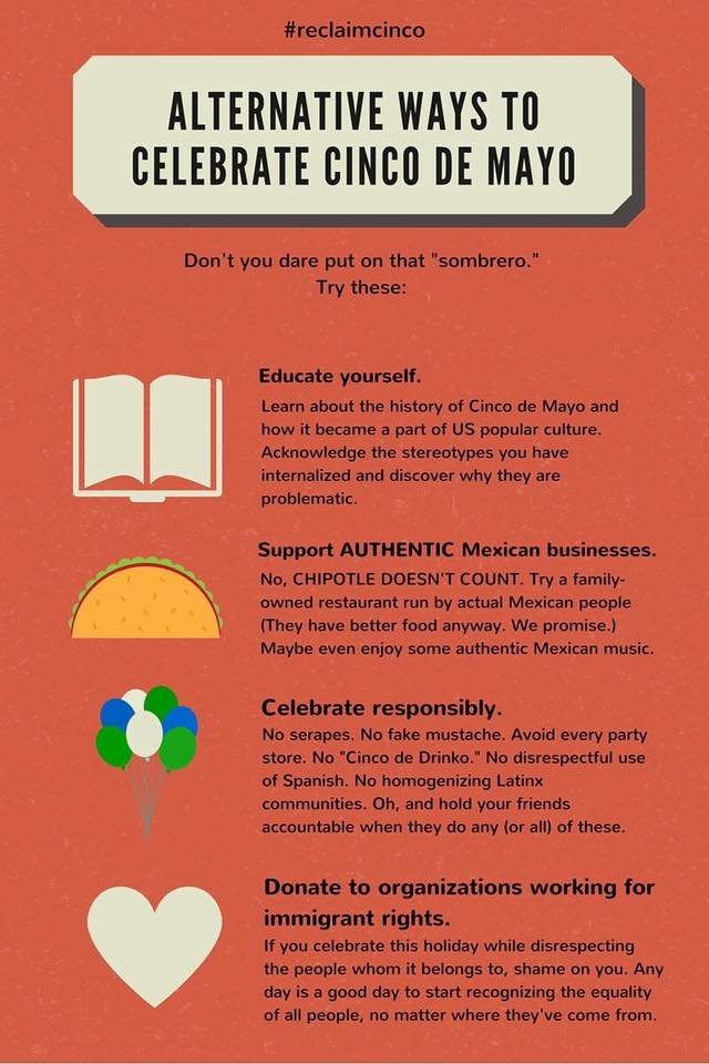 Alternative Ways to Celebtrate Cinco de Mayo