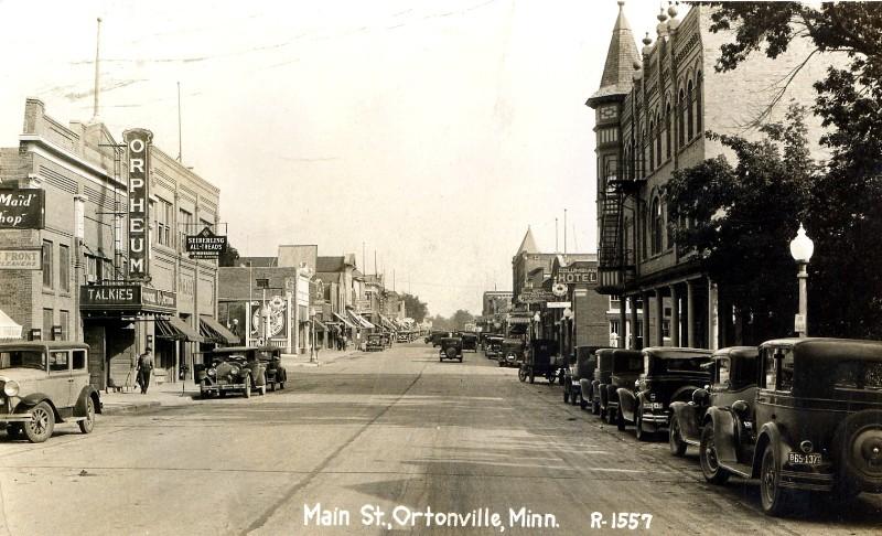 Main Street, OrtonvilleMinnesota, 1931