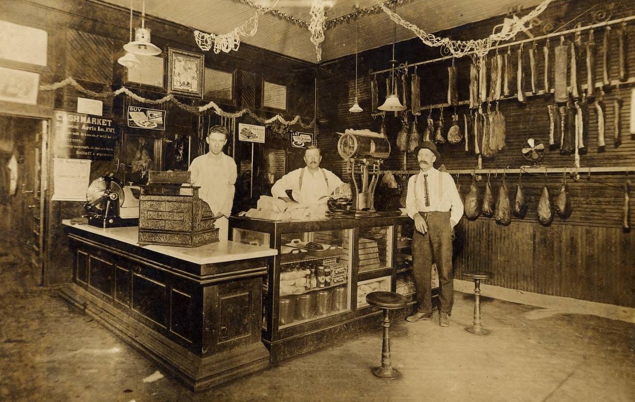 Meat Market, Ortonville Minnesota, circa 1919