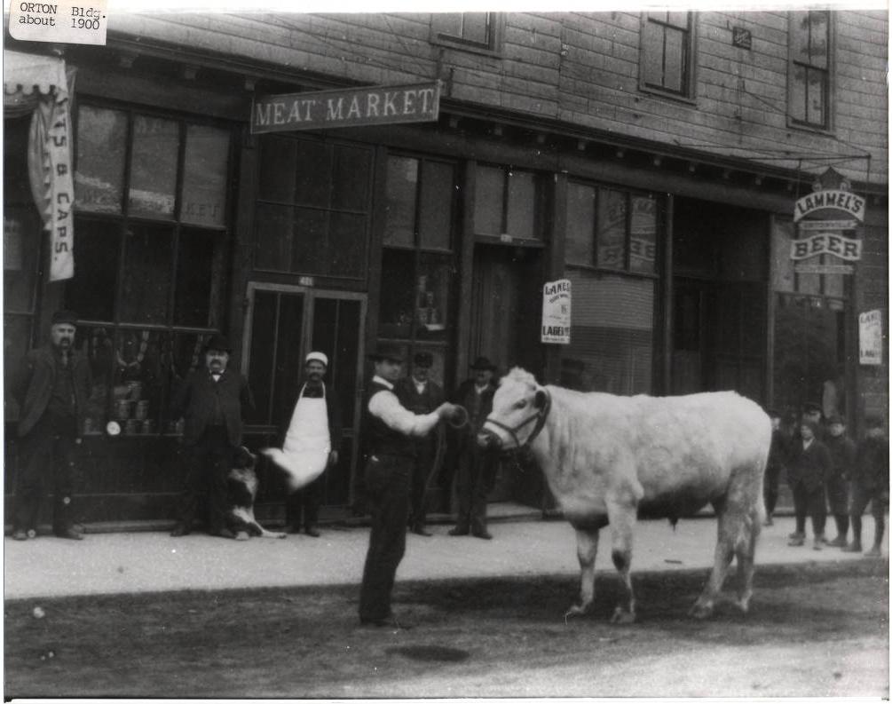 Meat Market, Ortonville, Minnesota, circa 1896
