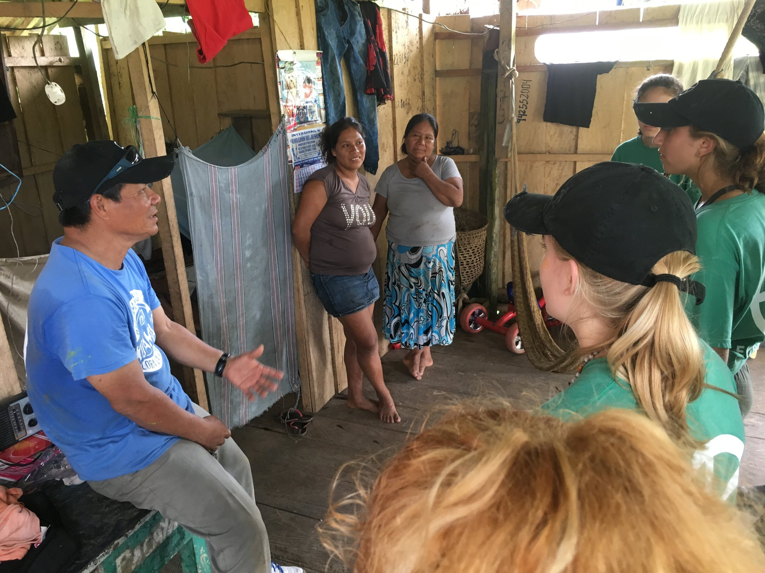 Roldan Hidalgo Peso   Born in the village of Timicuro Grande along the Amazon River, Roldan has been a guide for over 30 years. He truly enjoys his job everyday, especially working with student groups. His specialties are culture, fish, animals, plants, insects and spiders.