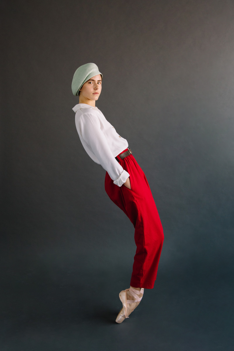 Pearl shirt x Rouge trouser