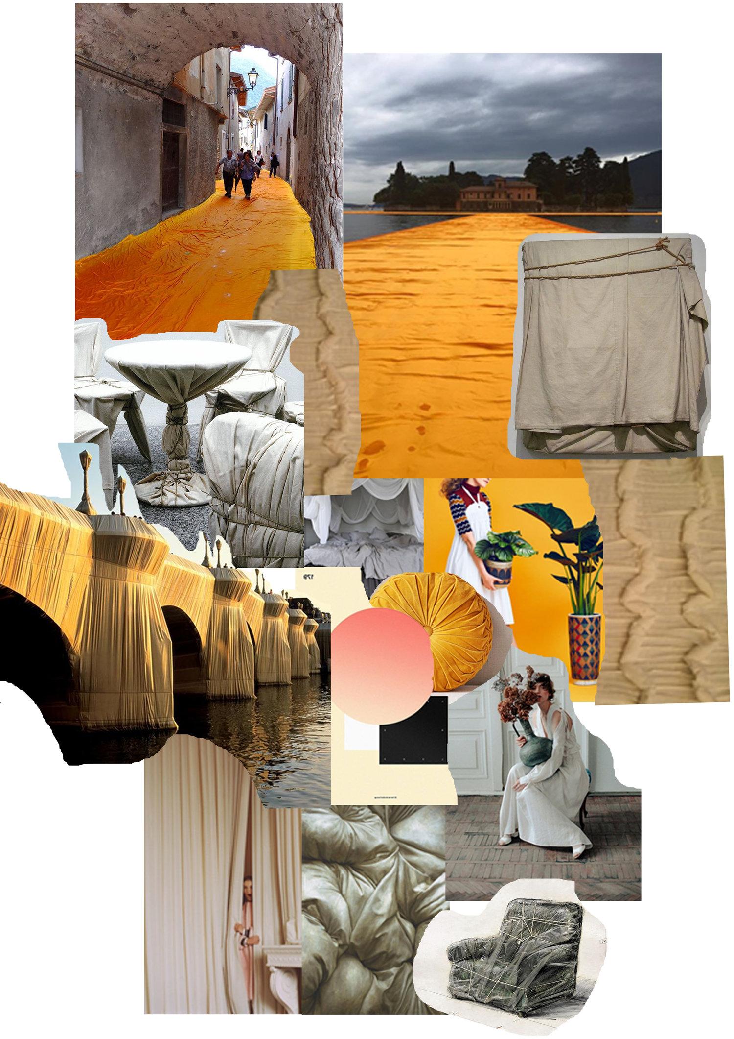 'Christo & Jeanne-Claude' set design inspiration -