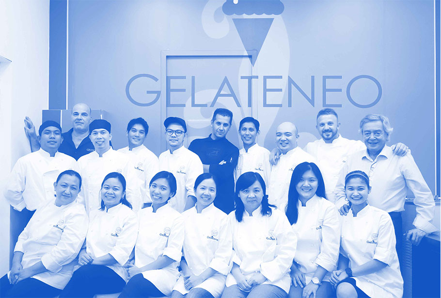 2016: Gelateneo - The Go family's fascination over gelato and other desserts was followed by the formation of an educational institution and learning center dedicated to the famous Italian dessert. They called it Gelateneo, named after the original training facility of Iceteam 1927. Together with Cattabriga, Gelateneo Philippines aims to bring gelato in our country to the next level by equipping both newcomers and long-time professional alike.