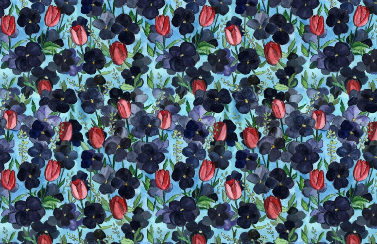 Dark Florals with a Pop