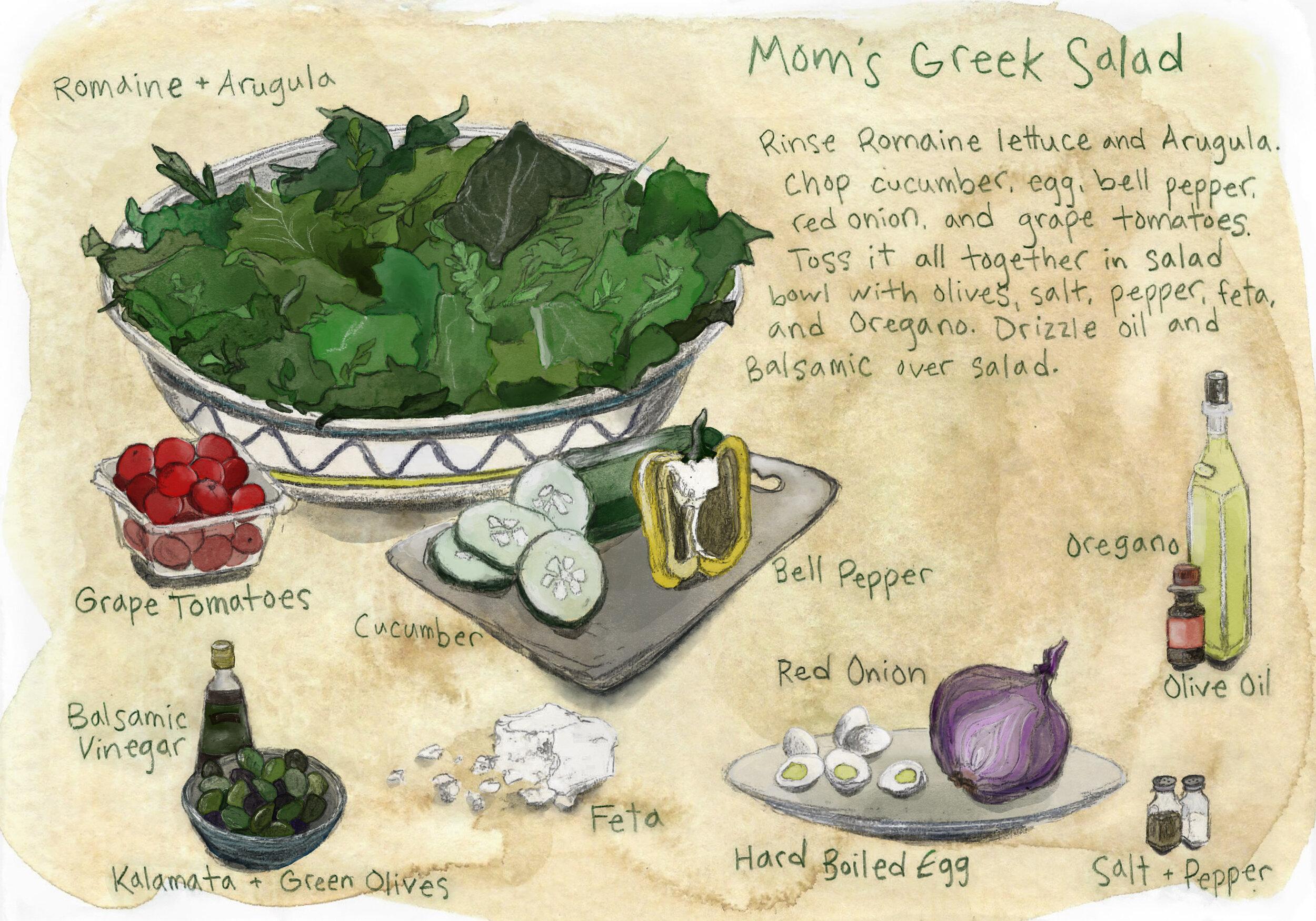 Mom's Greek Salad Recipe
