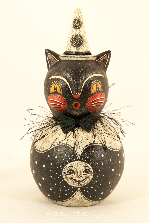 Black & white moon cat