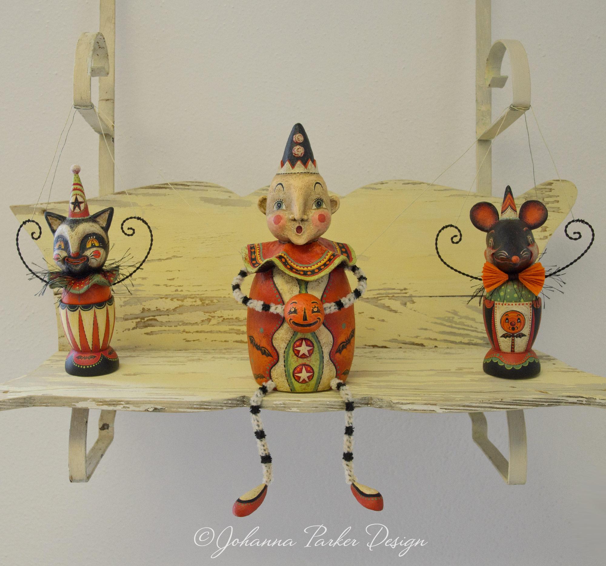 Carnival folk art trio