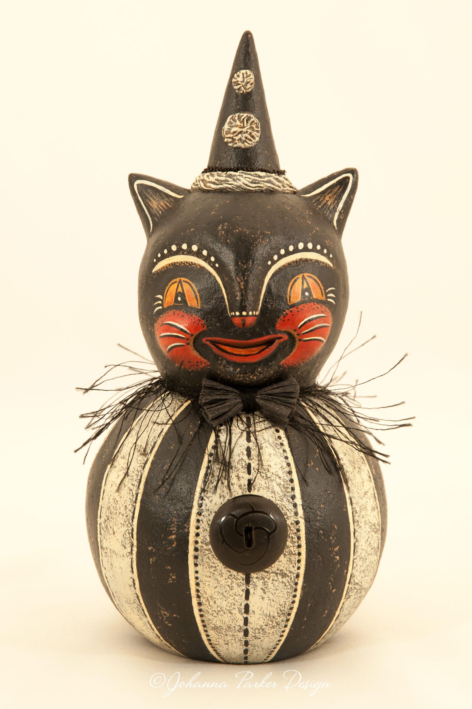 Black & white happy cat