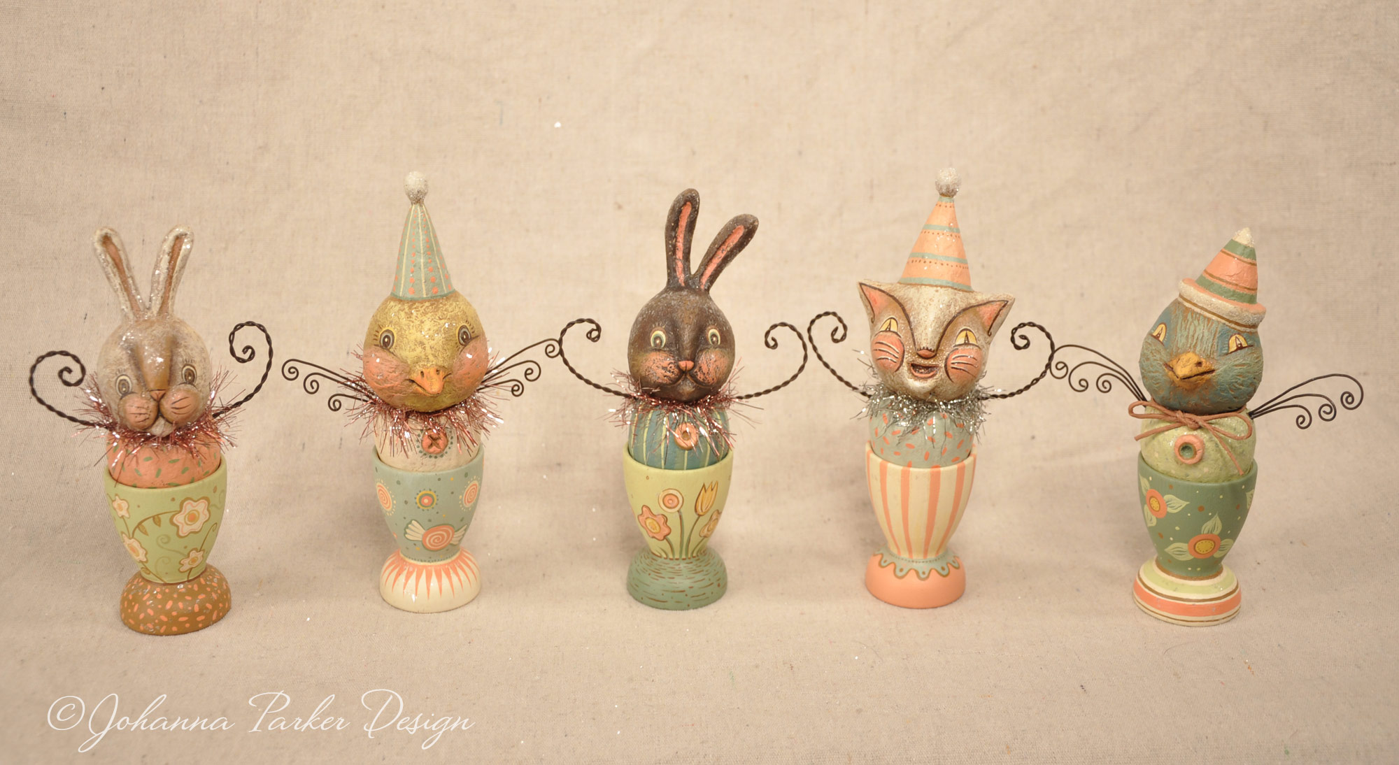 Spring egg cup group
