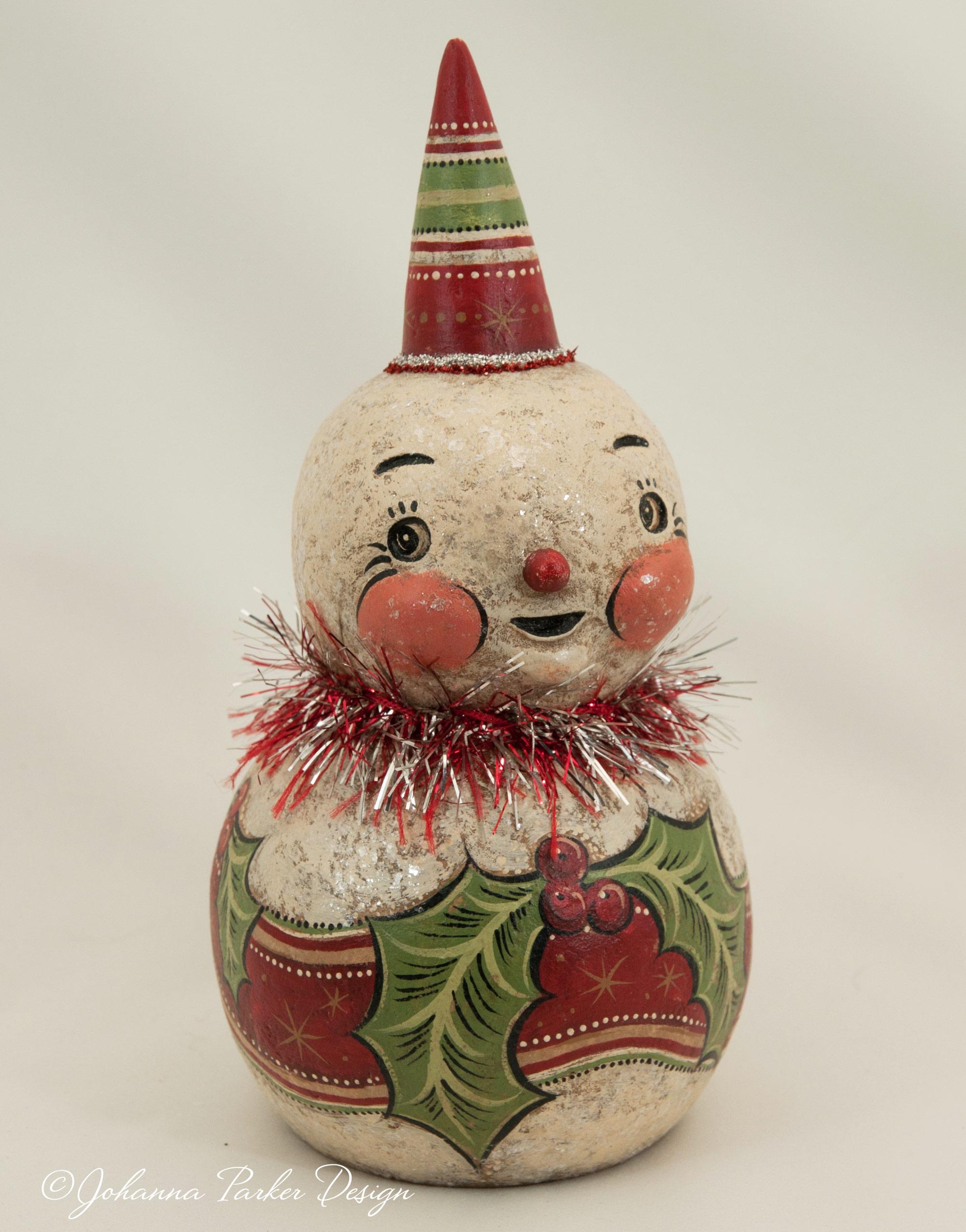 Holly snowman