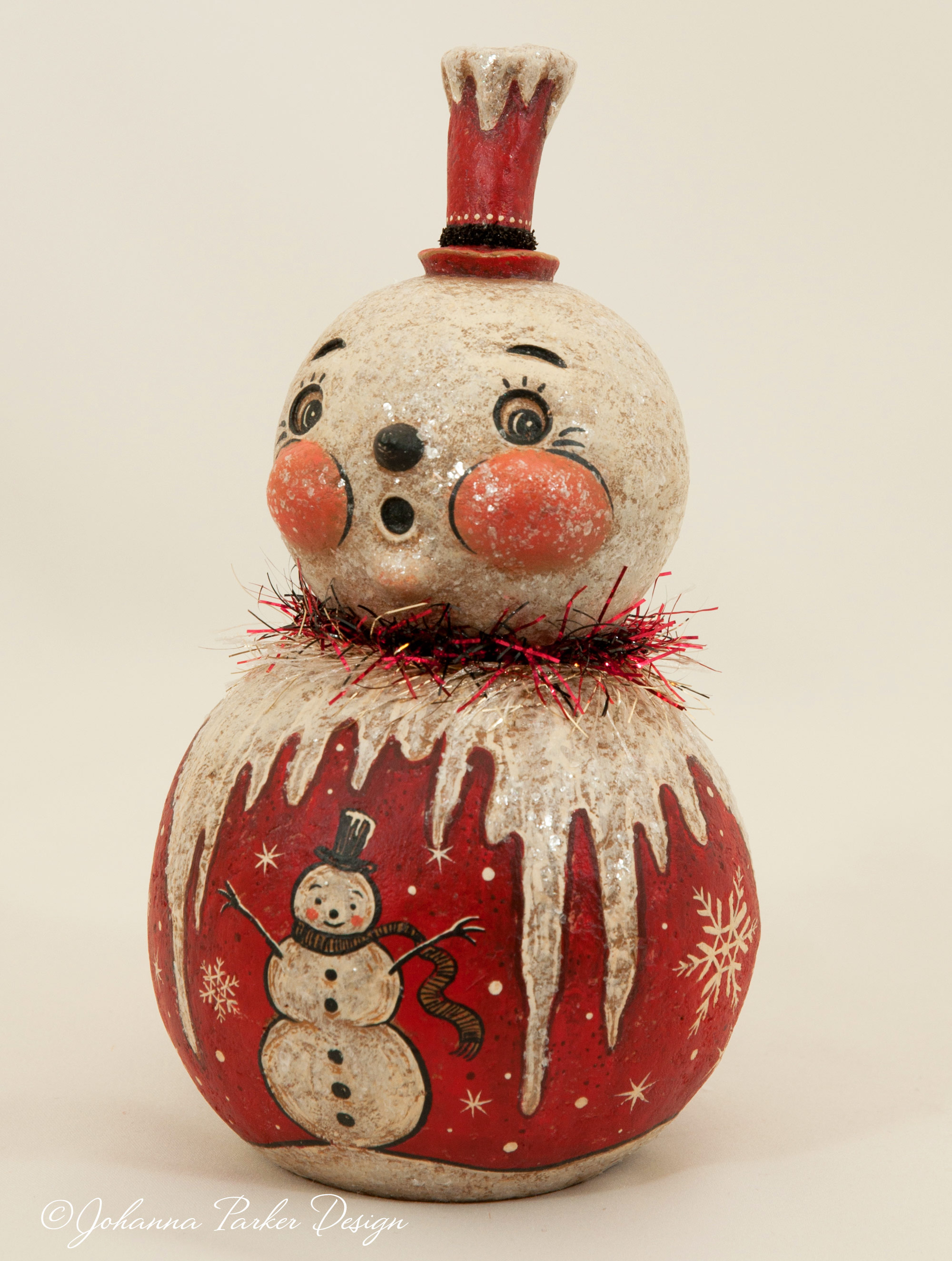 Icicle snowman
