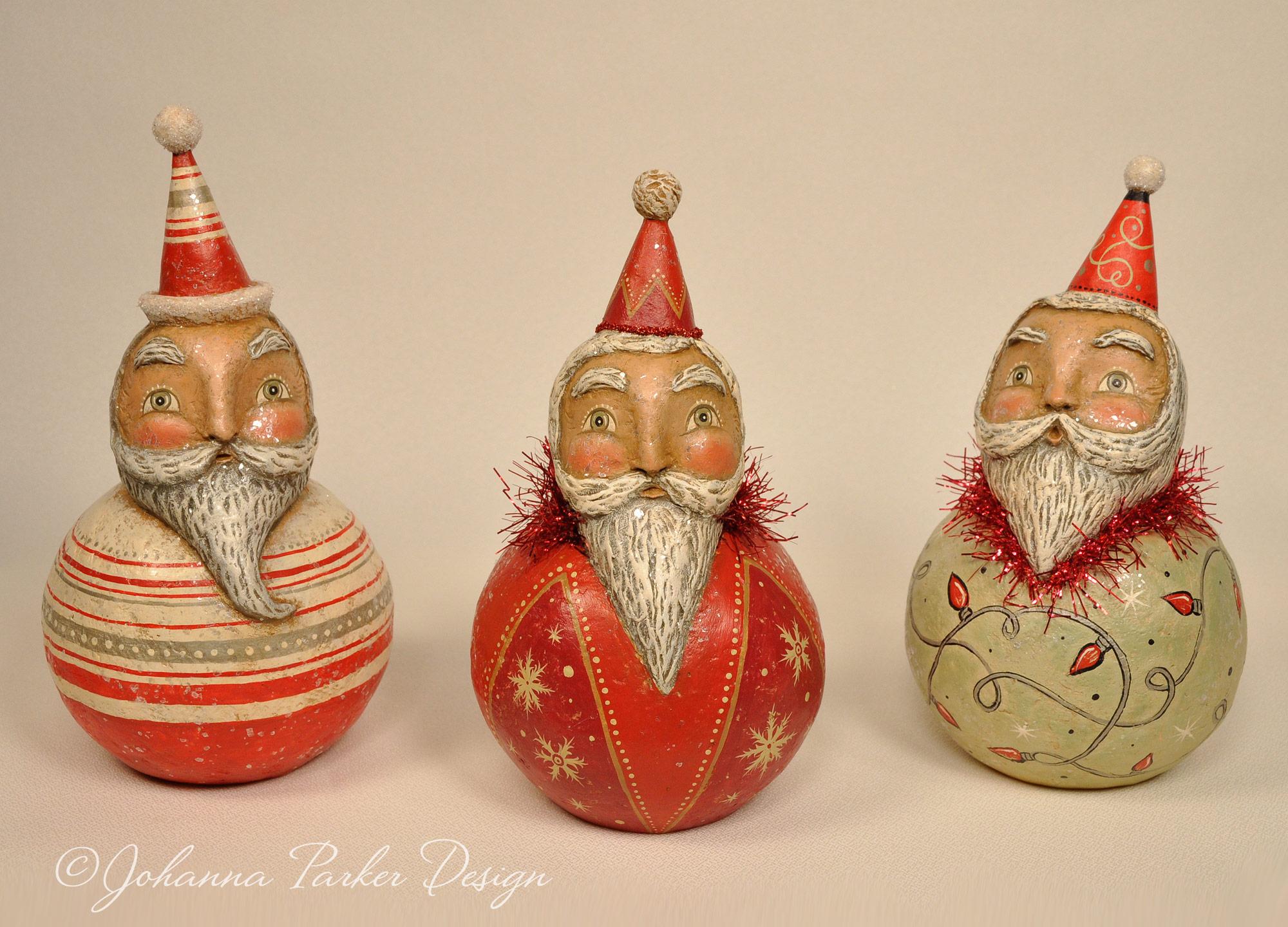 Santa ball trio