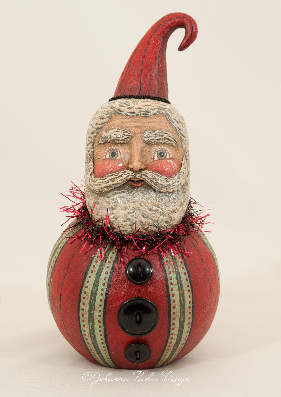 Striped Santa ball character