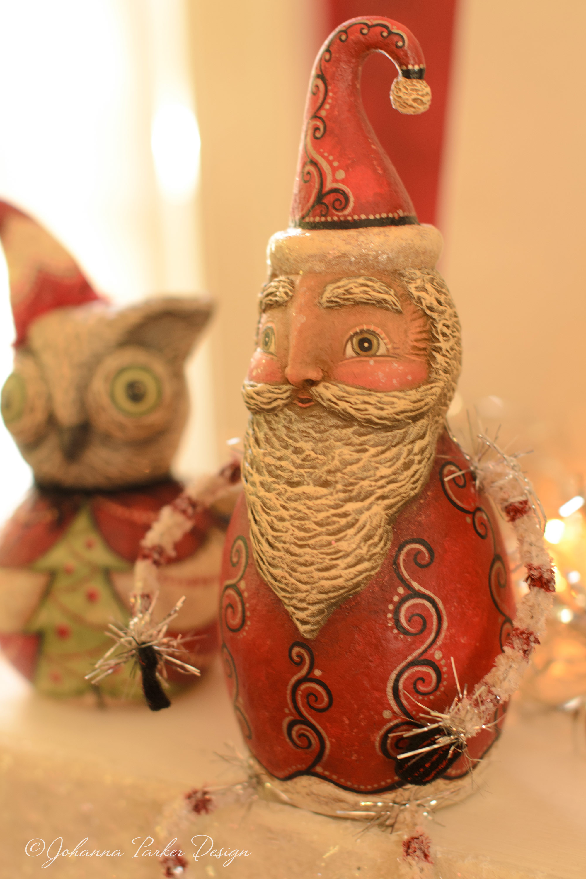 Santa sitter with owl