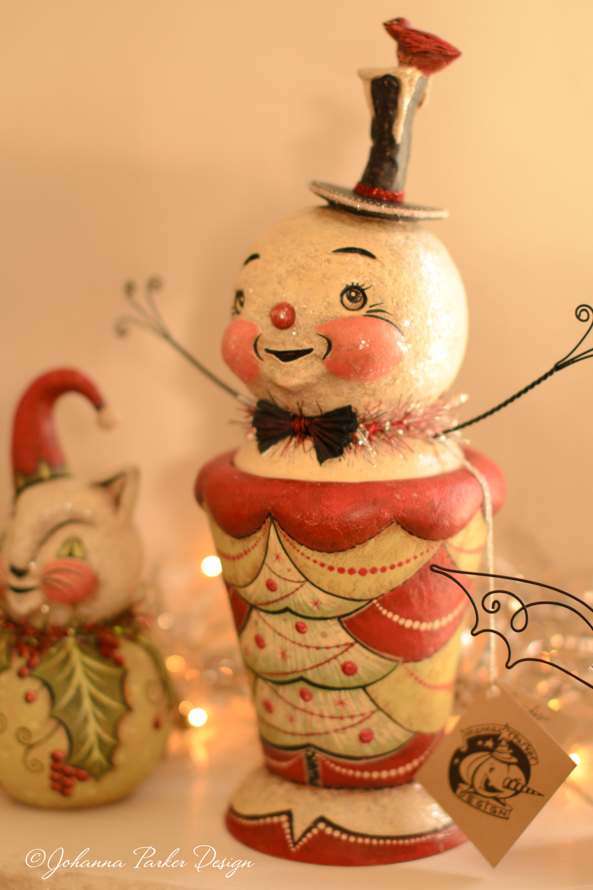 Snowman tree bird candy container