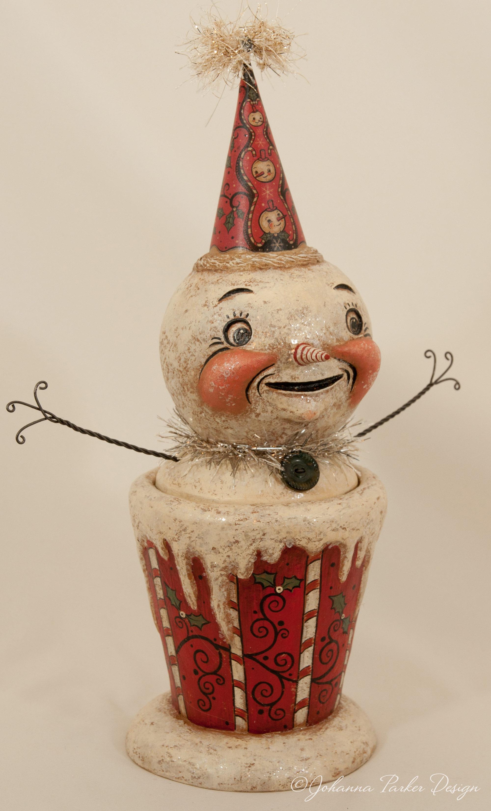 Frosty peppermint snowman