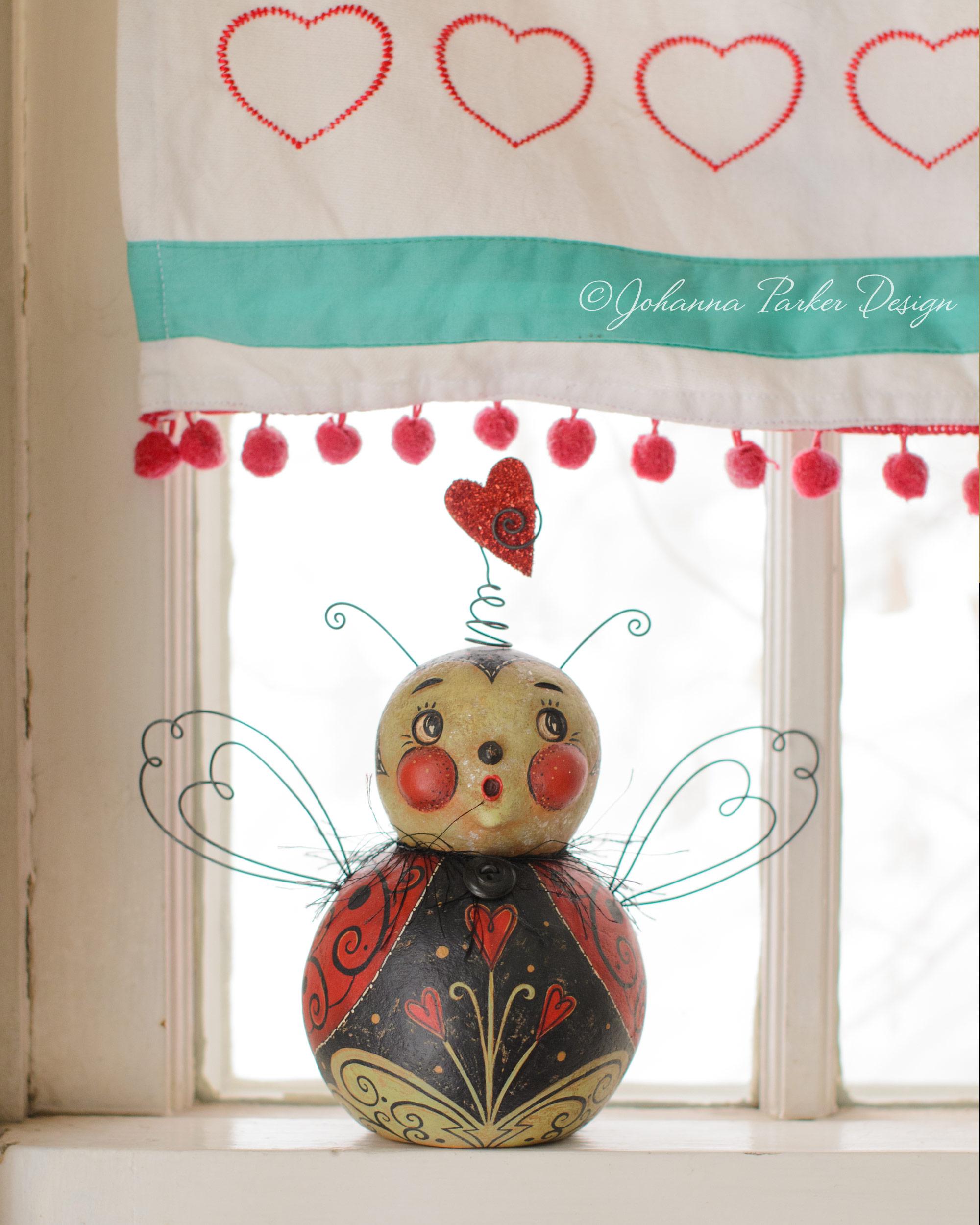 Window love bug ball