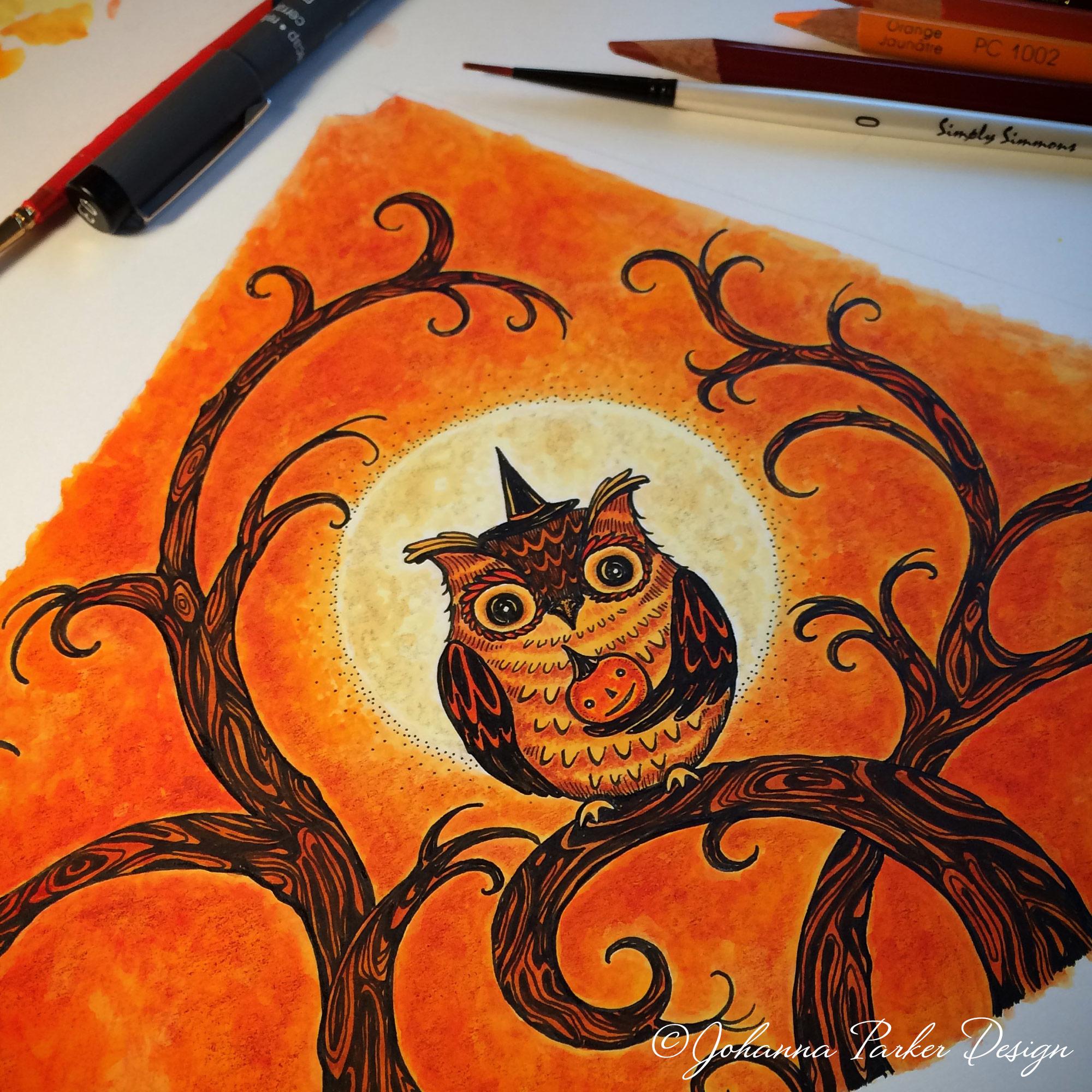 Halloween BLD hat owl