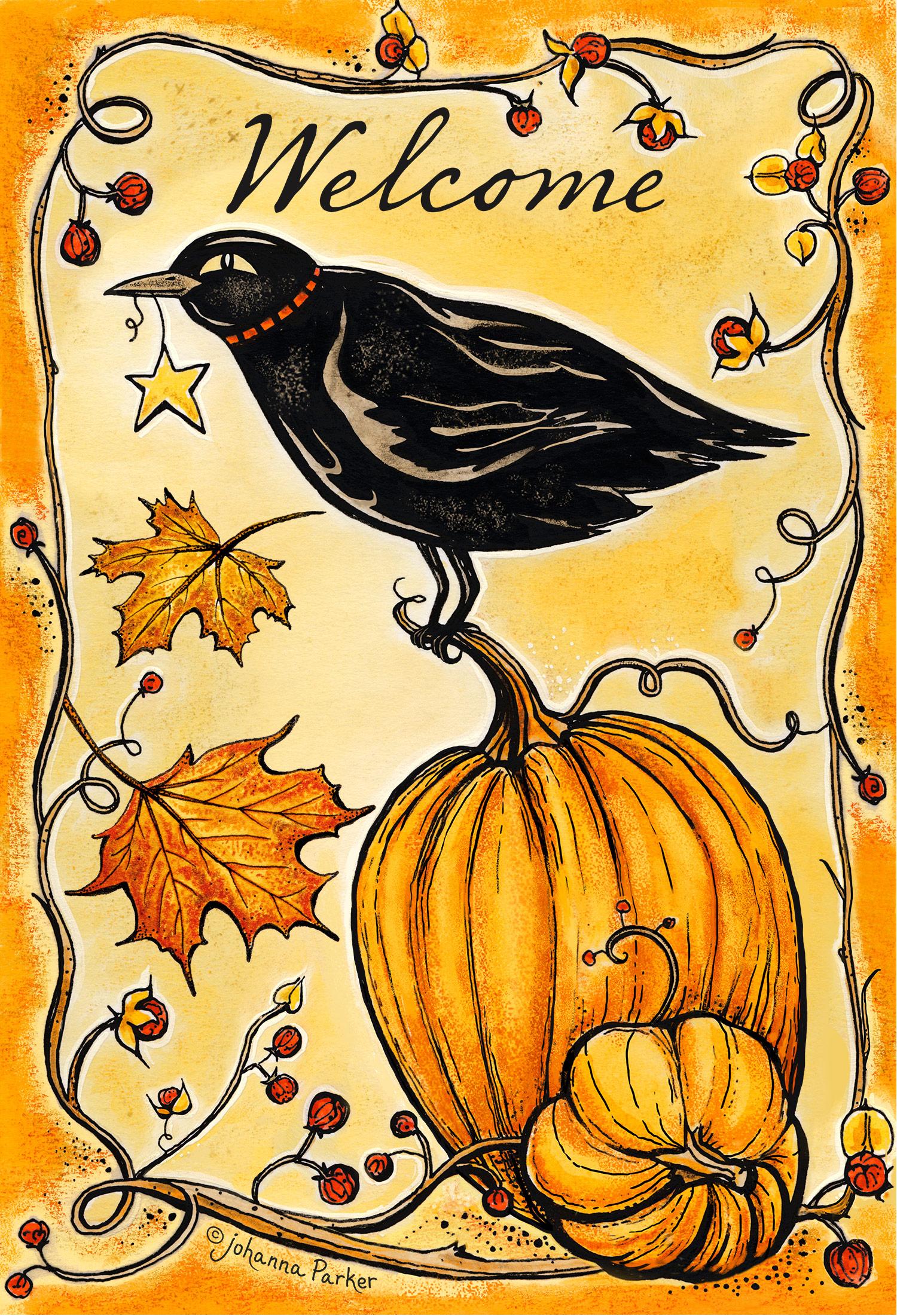 Sweet autumn crow