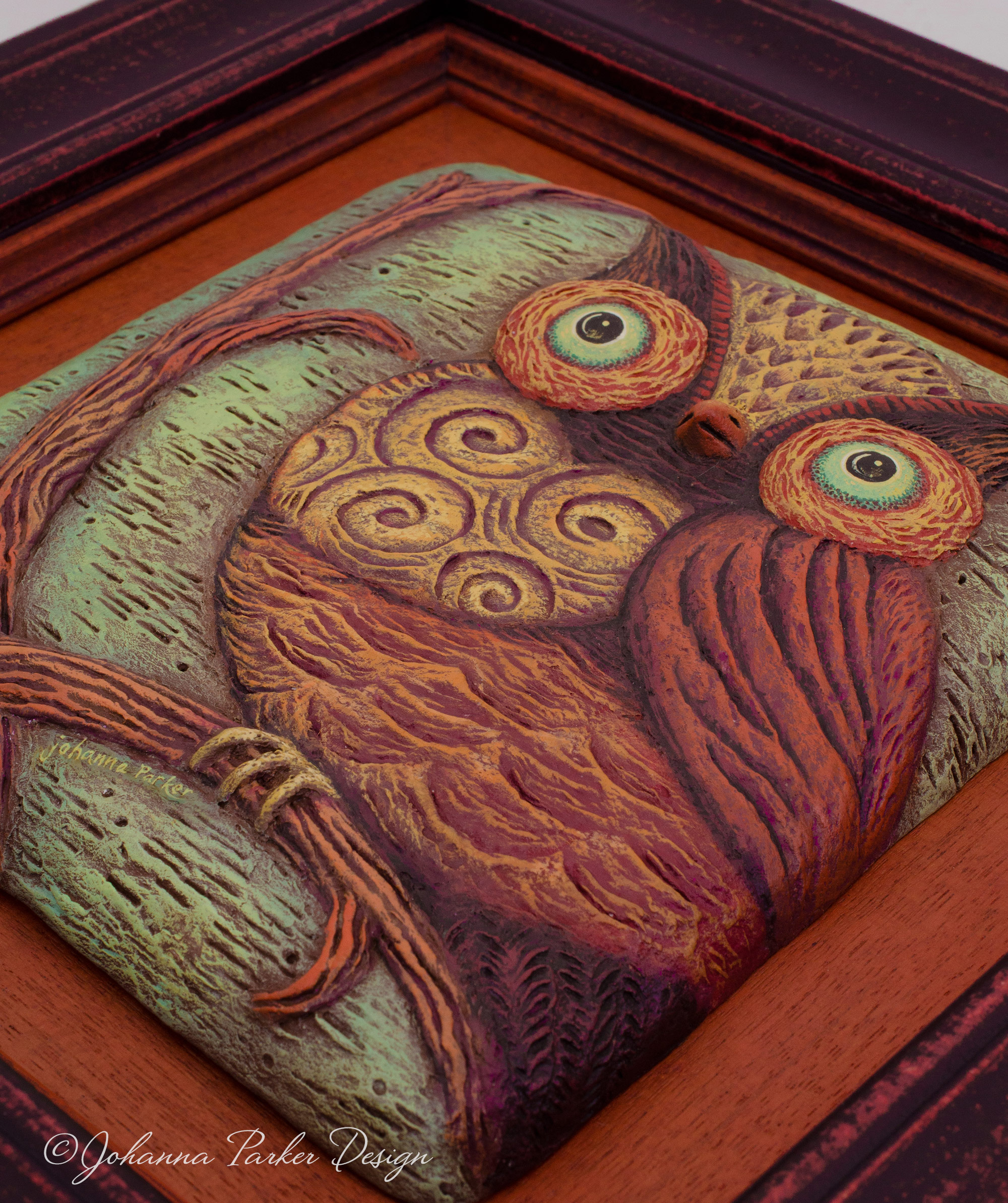 Perched owl artscape