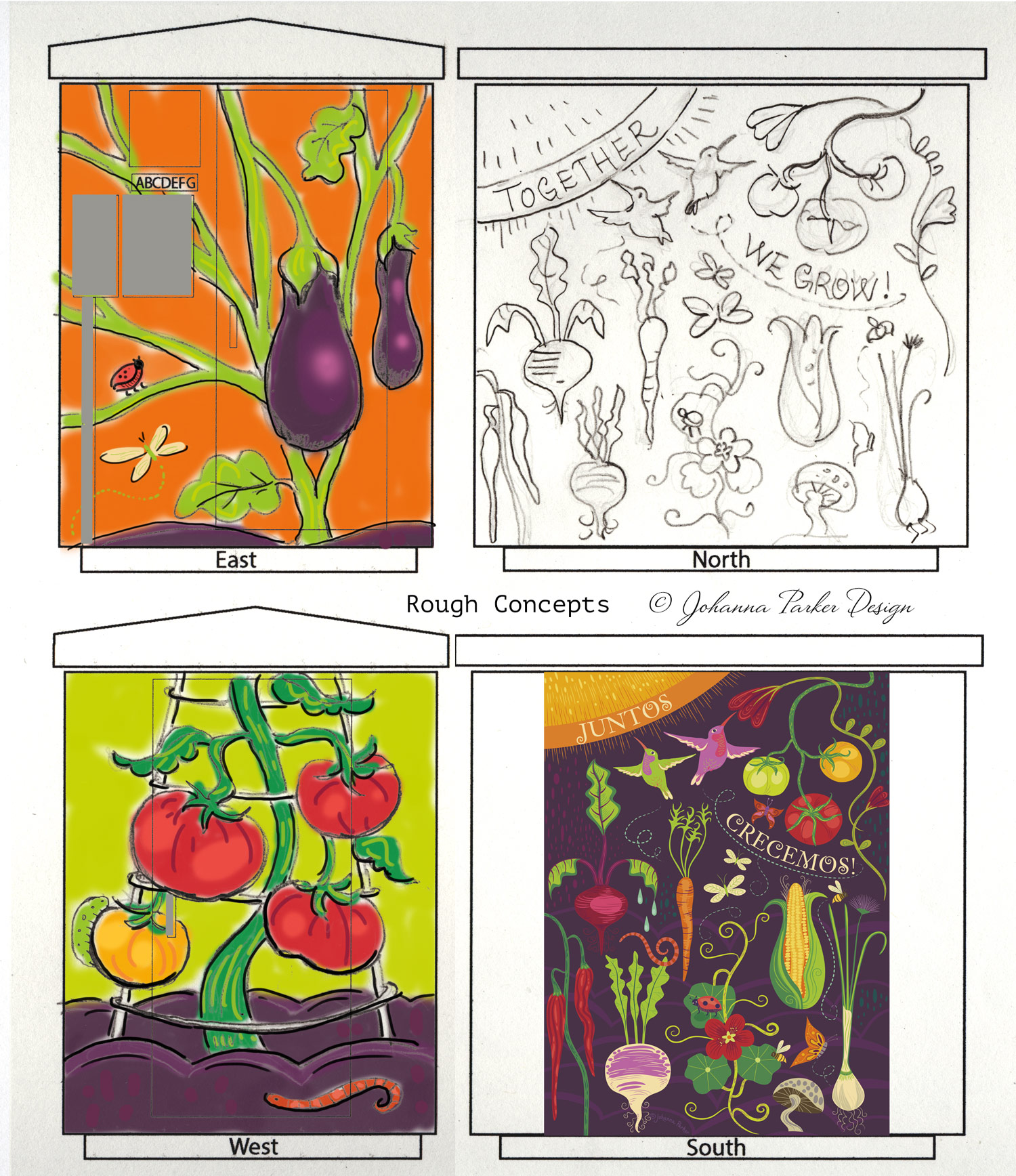 Together we Grow garden sketch RTD Mountair