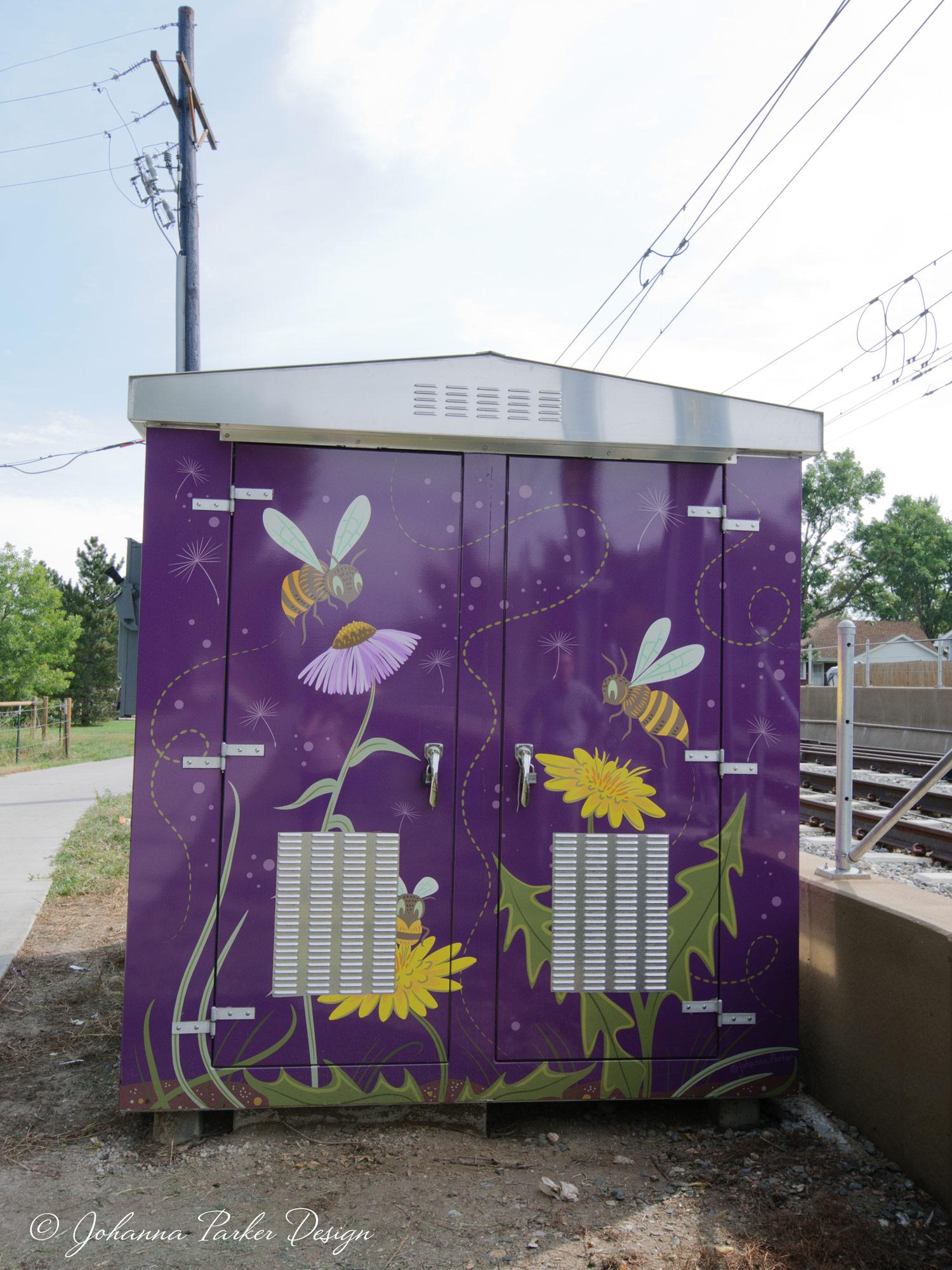 Bee Safe box wrap west RTD