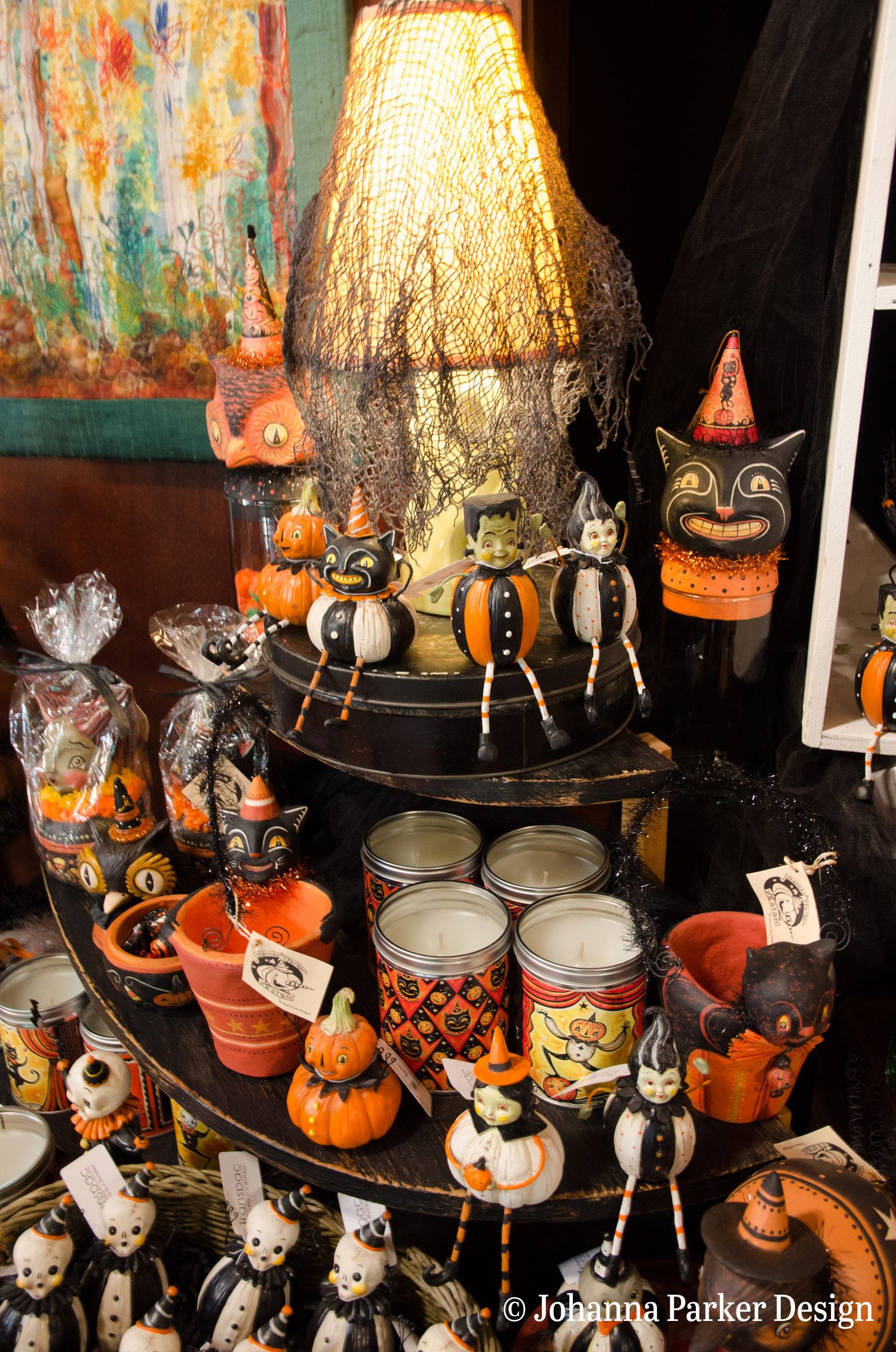 Halloween collectibles for sale at the Glens Art Walk