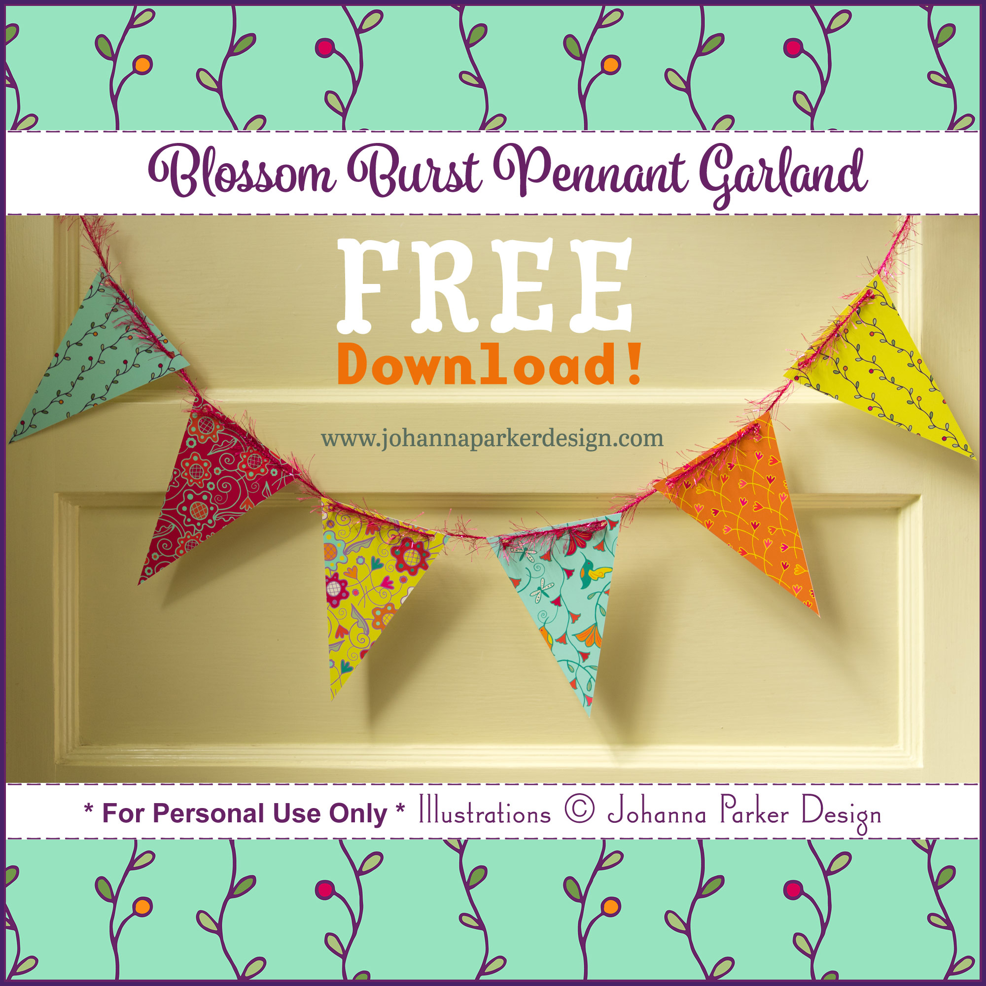 Find more matching Garden Delight Pennant garlands on our DIY   Printables   page!
