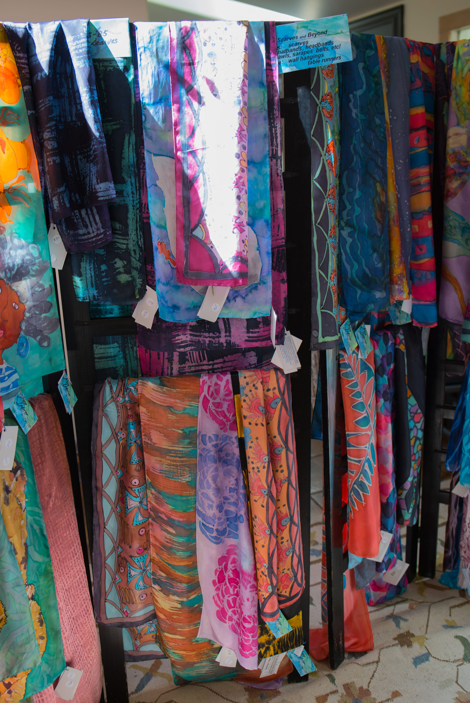 Ann-Lederer-painted-silk-scarves