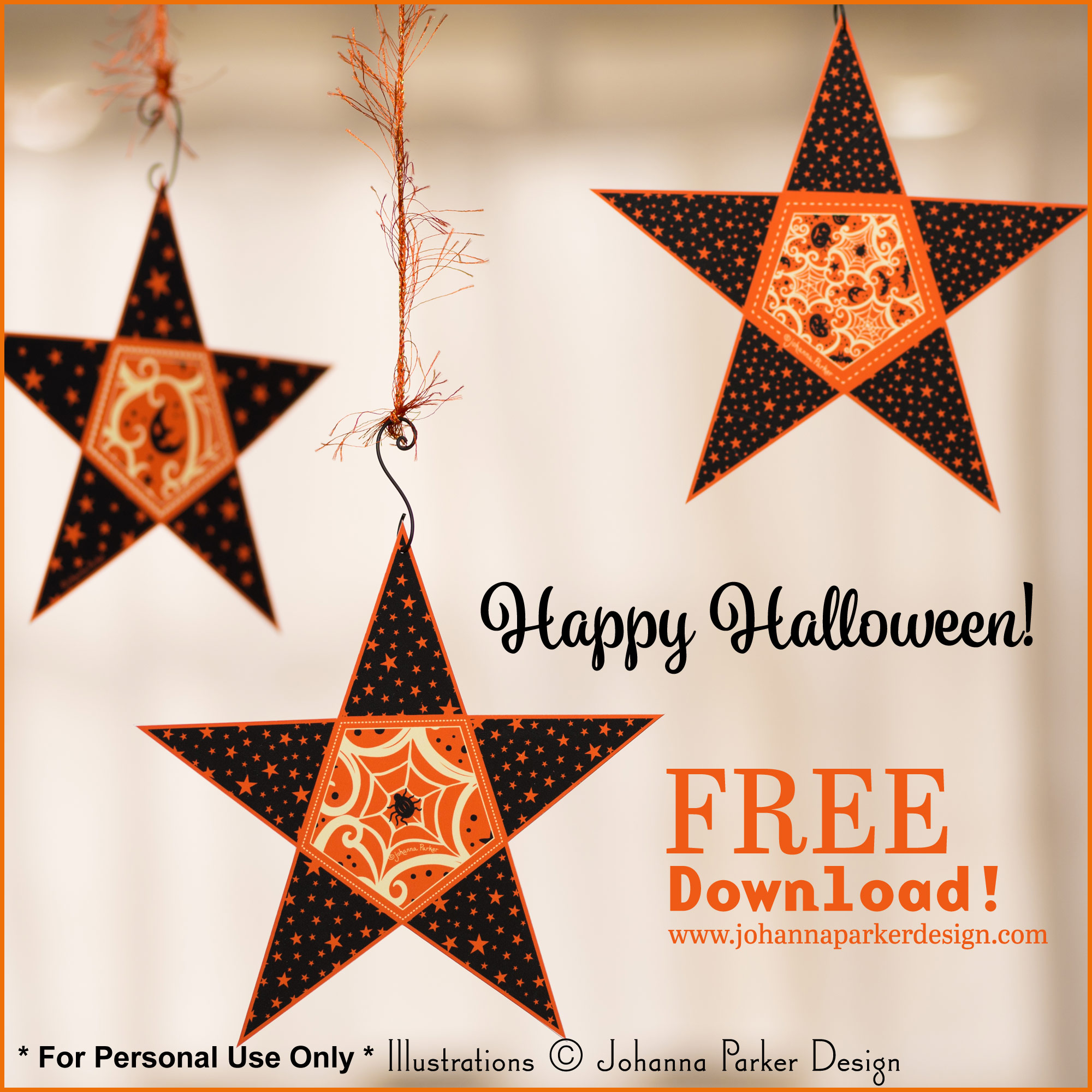 * Find more matching Halloween garlands on our DIY   Printables   page !