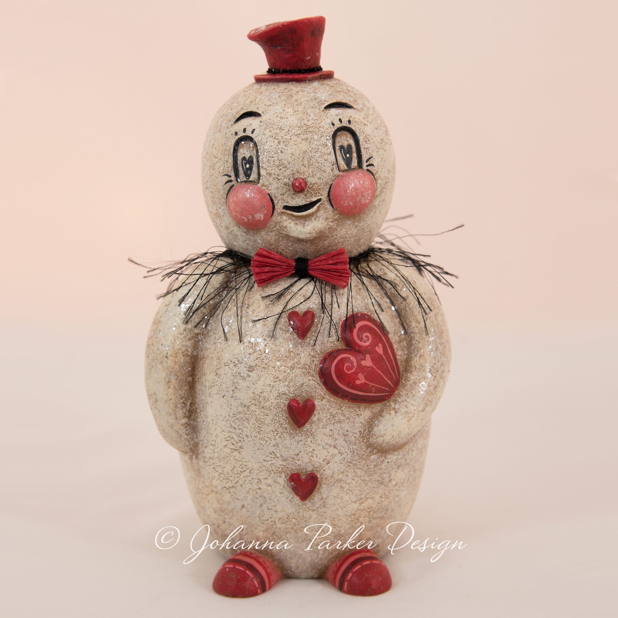 Flirtatious Bert Valentine Snowman