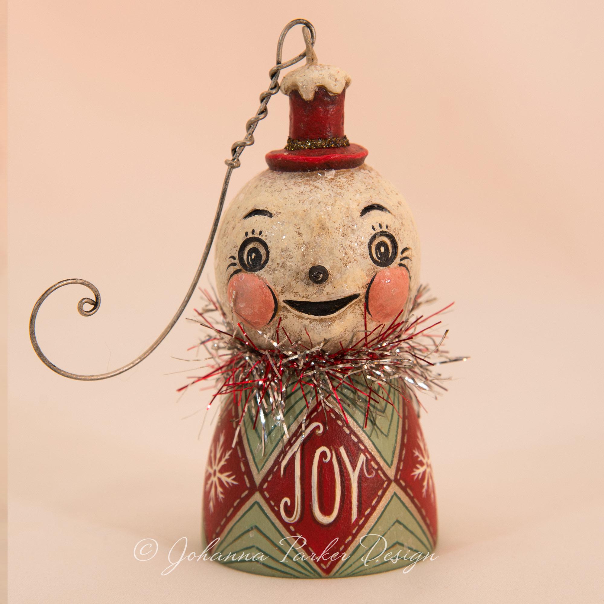 JOY Snowman Bell Ornament