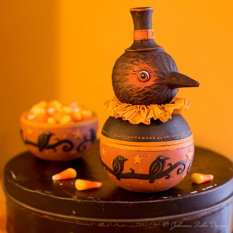 Harvest Harvey Crow Candy Bowl