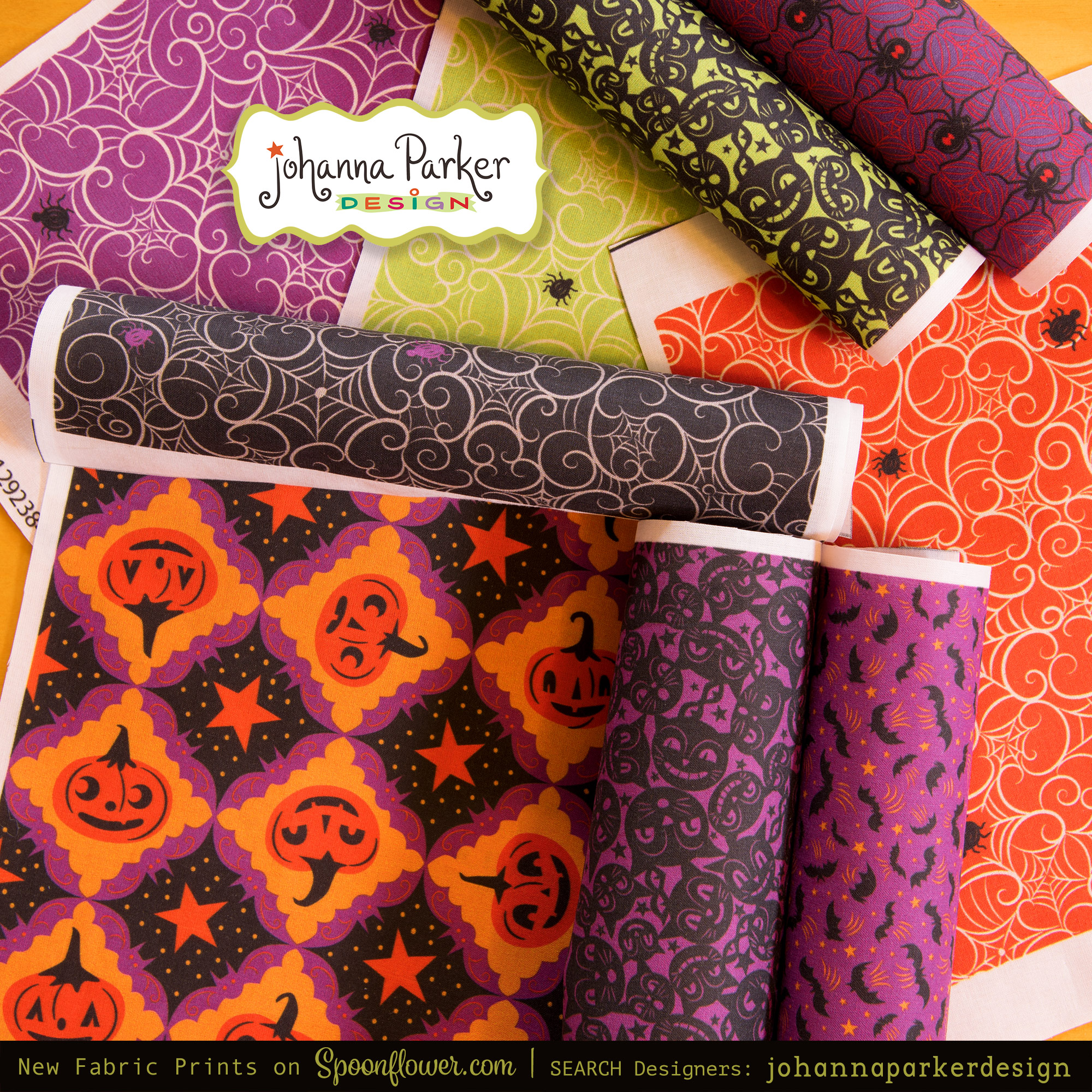 Choose from  50 Johanna Parker Halloween  prints! Here are a few of the latest designs incorporating purple in the mix...