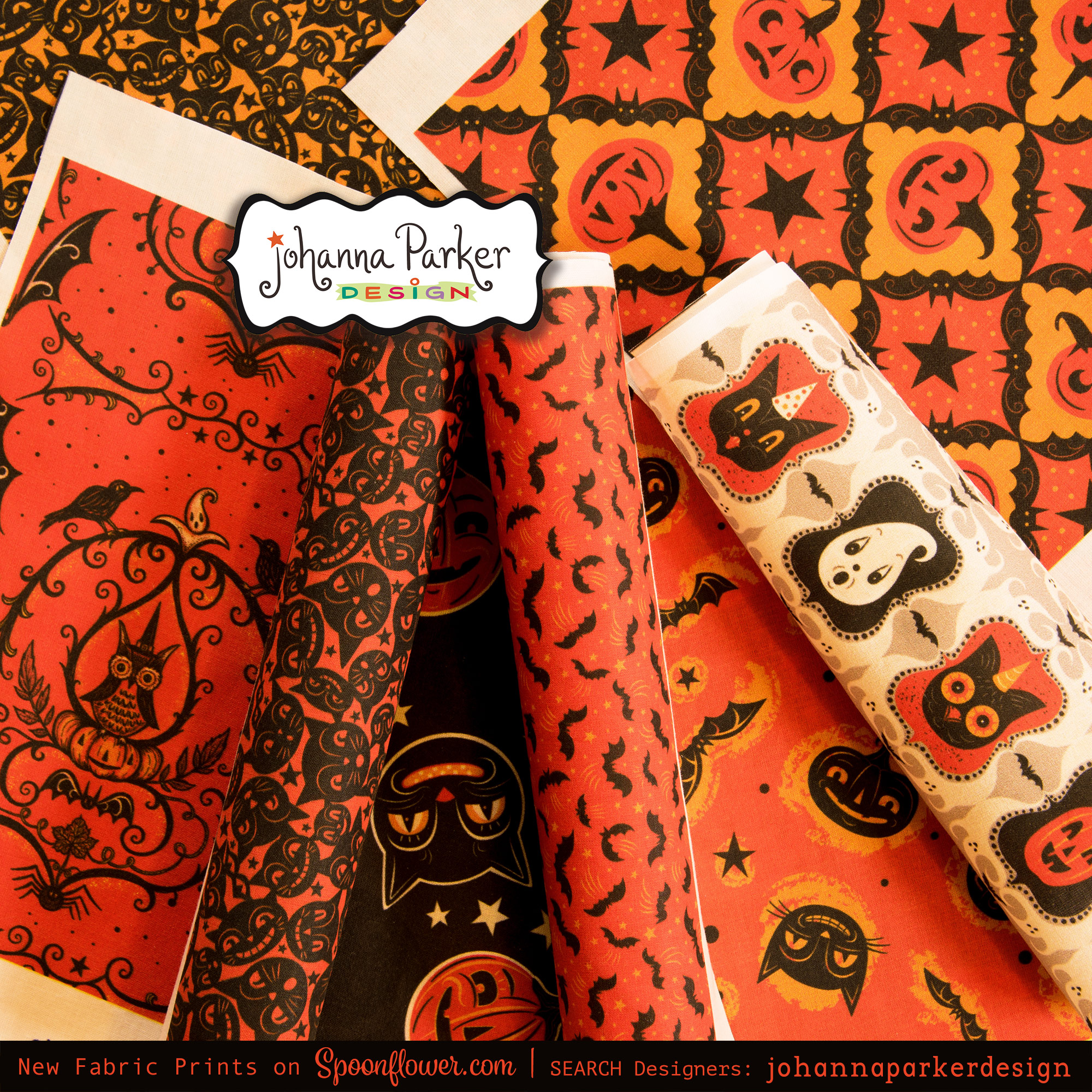 More yummy Halloween Designs, NEW to my  Spoonflower Shop!