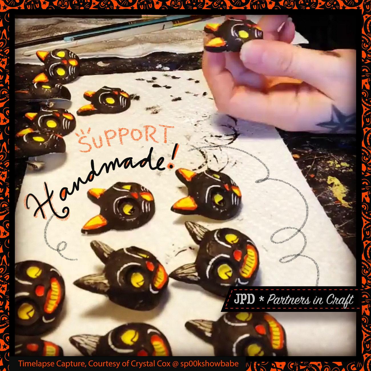 JPD Partners in Craft * Spookshow Babe Designs + Johanna Parker Design * Artist Collaboration