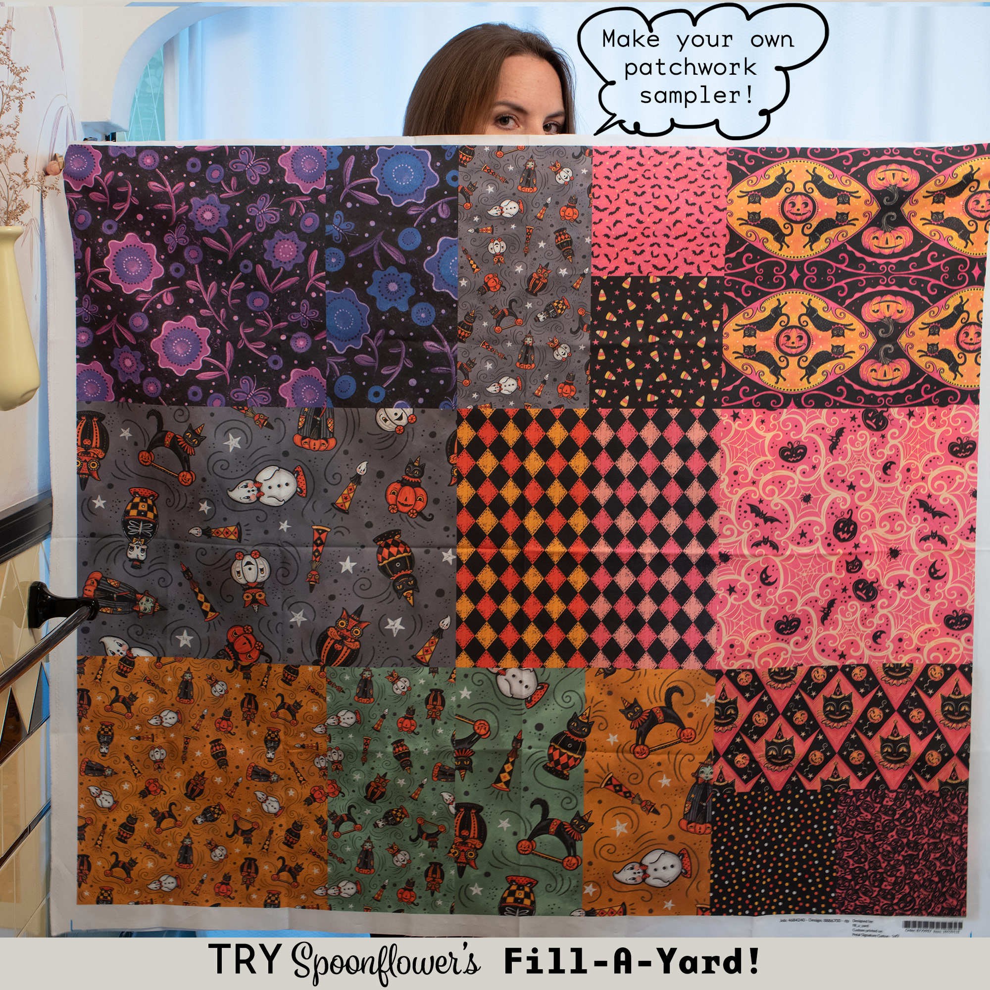 "Learn how to create a ""Fill-A-Yard"" Project with Johanna's various designs! Great for ordering sample swatches or even arranging a custom quilt, Johanna takes you step by step in a recent    Blog Post   …"