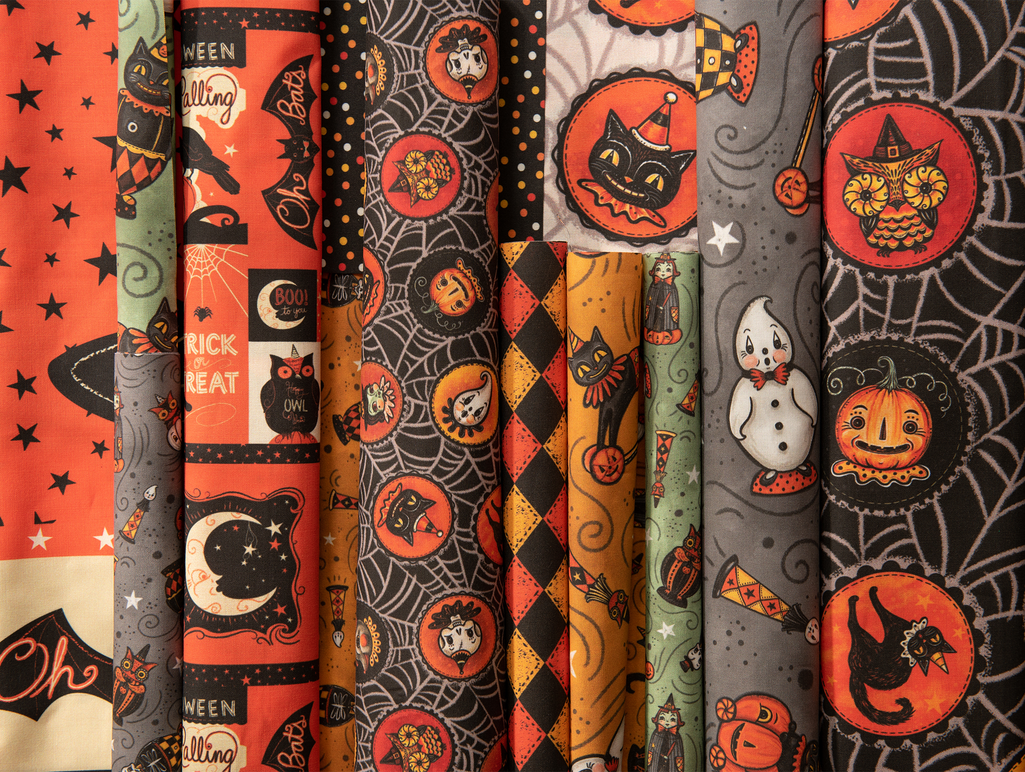 So many NEW Halloween prints, now available! Check out   Johanna's Halloween Collection on Spoonflower…