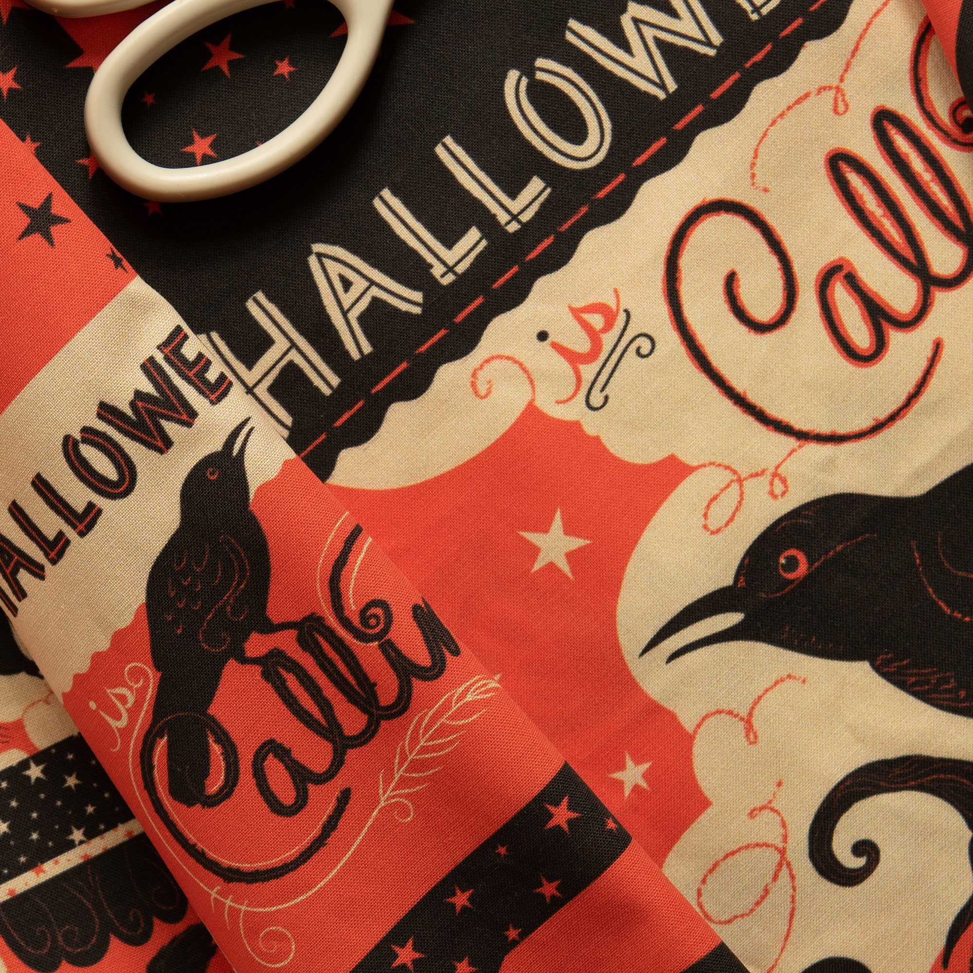 "Johanna's NEW   ""Vintage Halloween Patchwork large""   is great for Cut & Sew projects!"