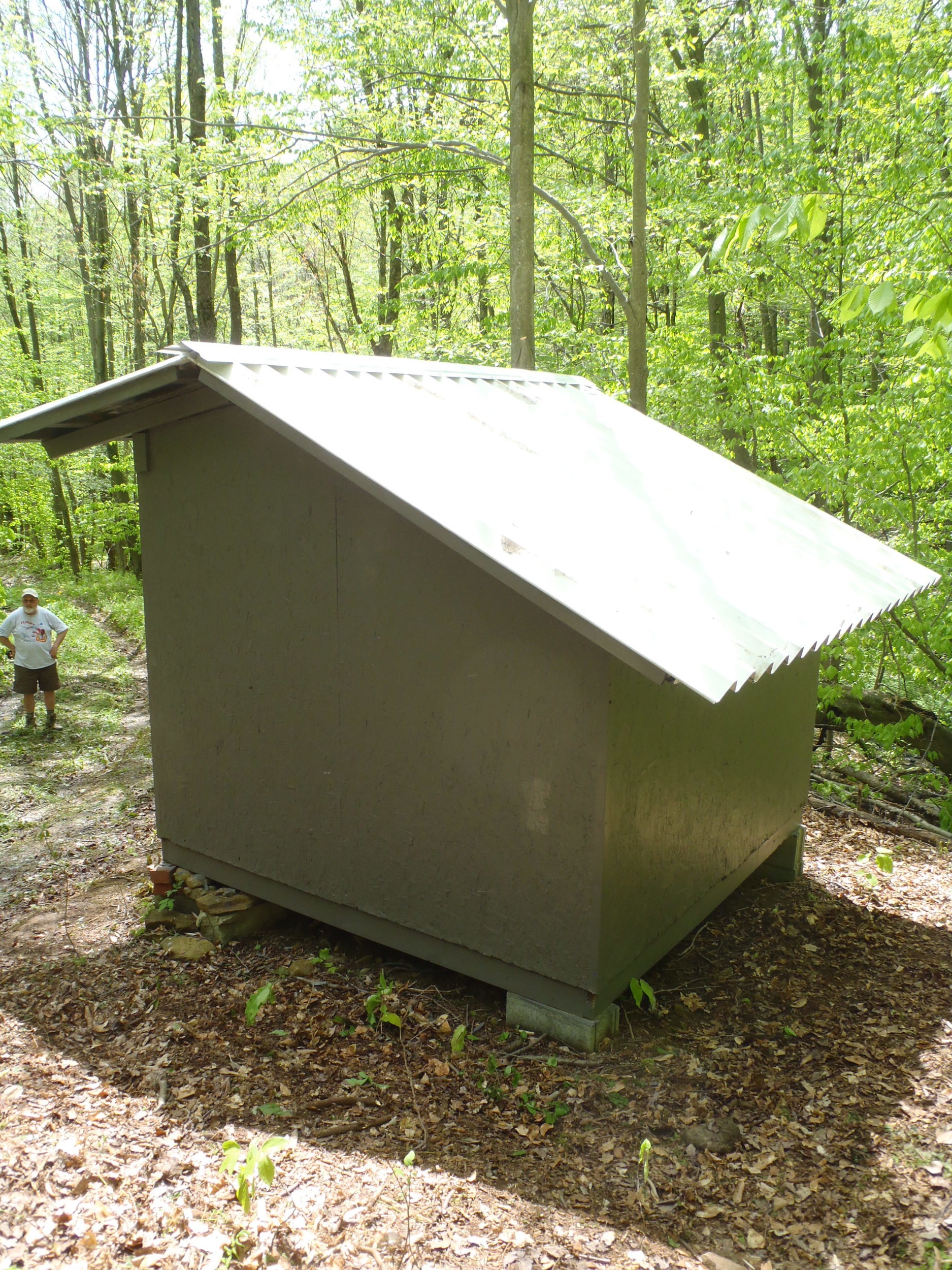 Lantz Ridge shelter roof after replacement