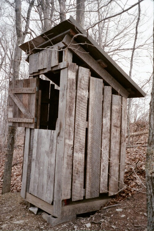 S4-Pomeroy's Palace outhouse at Graham Shelter atop Smith Knob on Allegheny Mtn.jpg