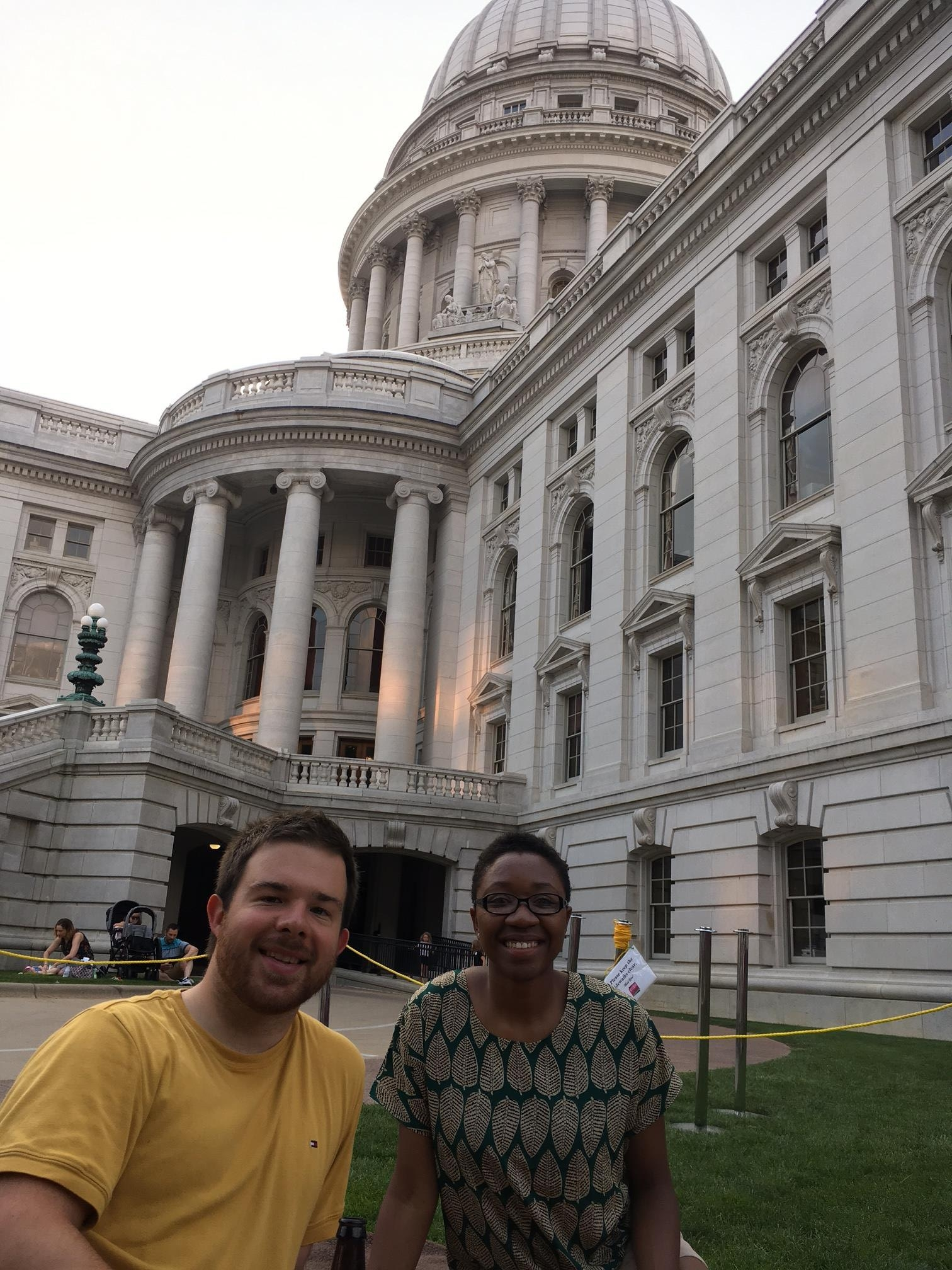 Tiaira and Chris at their first Concert on the Square - Beethoven's 5th!