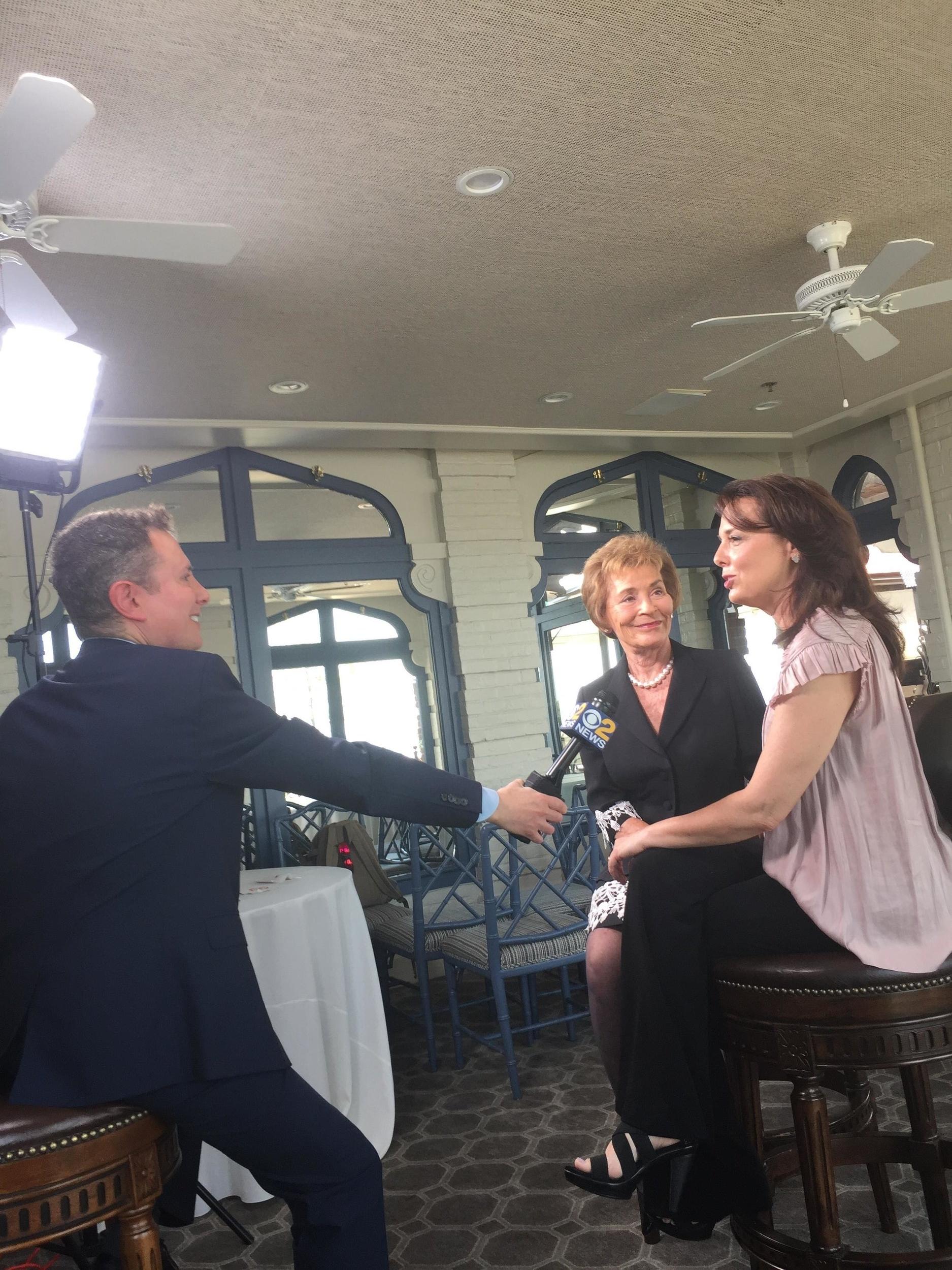 Judge Judy and Nicole Sheindlin on WCBS-TV